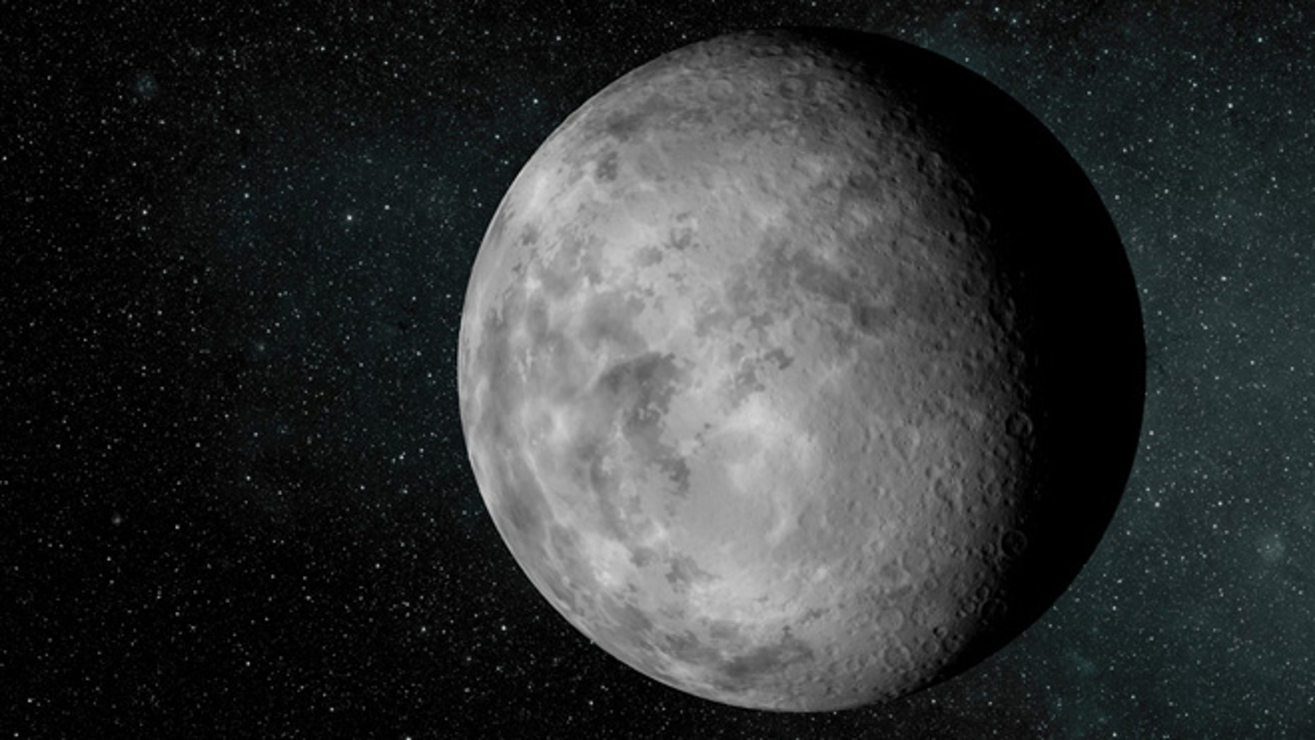 An artist rendering of the newfound planet known as Kepler-37b. The planet is about the size of our moon and is the smallest known exoplanet, according to a new study.
