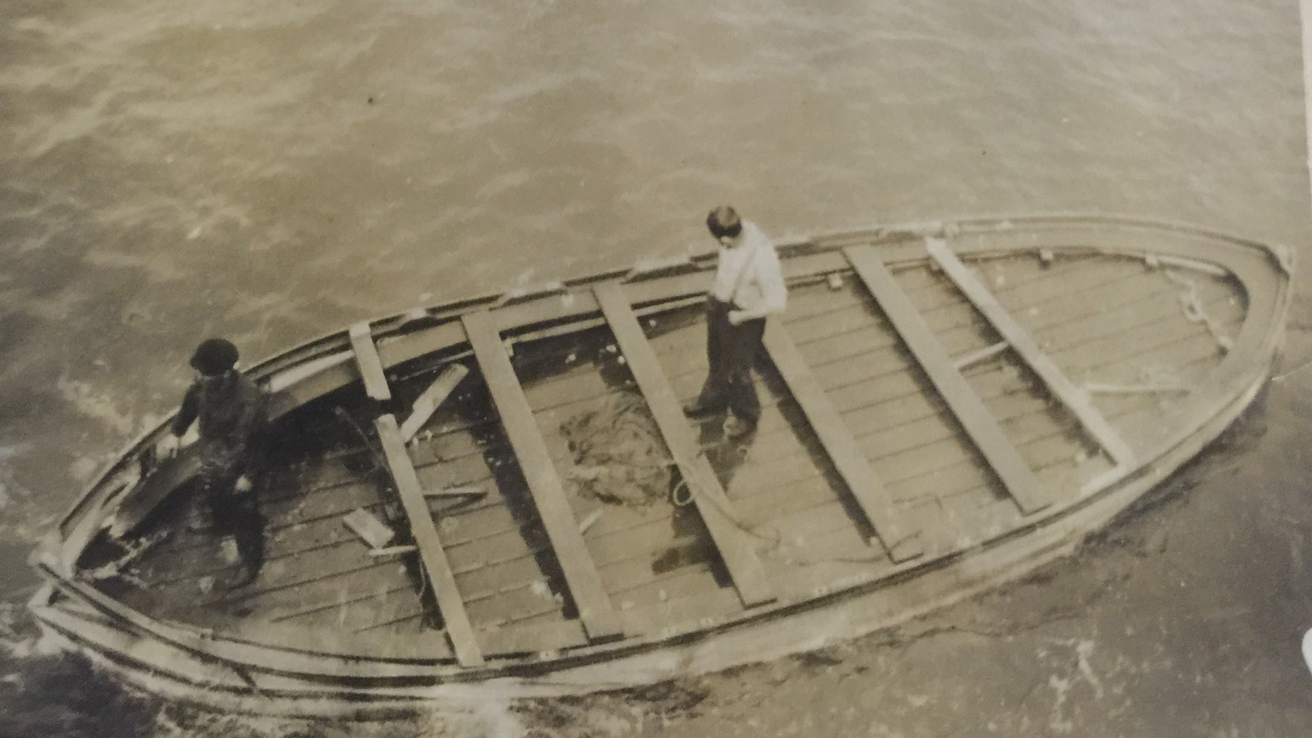 The Titanic lifeboat recovered by crewmembers from RMS Oceanic (Henry Aldridge & Son).