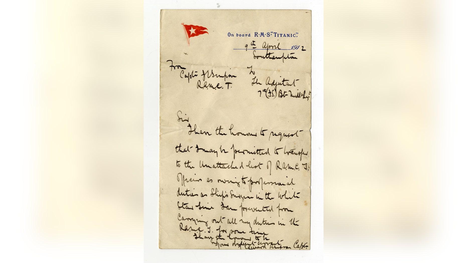Dr. John Simpson's letter (Henry Aldridge & Son).