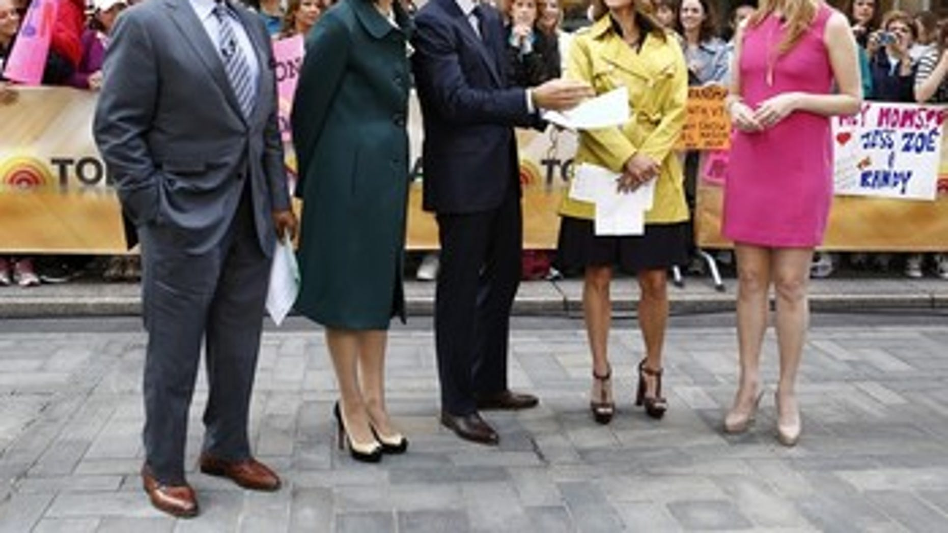 "June 26, 2012:  NBC, ""Today"" show co-hosts, from left, Al Roker, Ann Curry, Matt Lauer, Natalie Morales talk with Lisa Kudrow on the ""Today"" show  in New York."