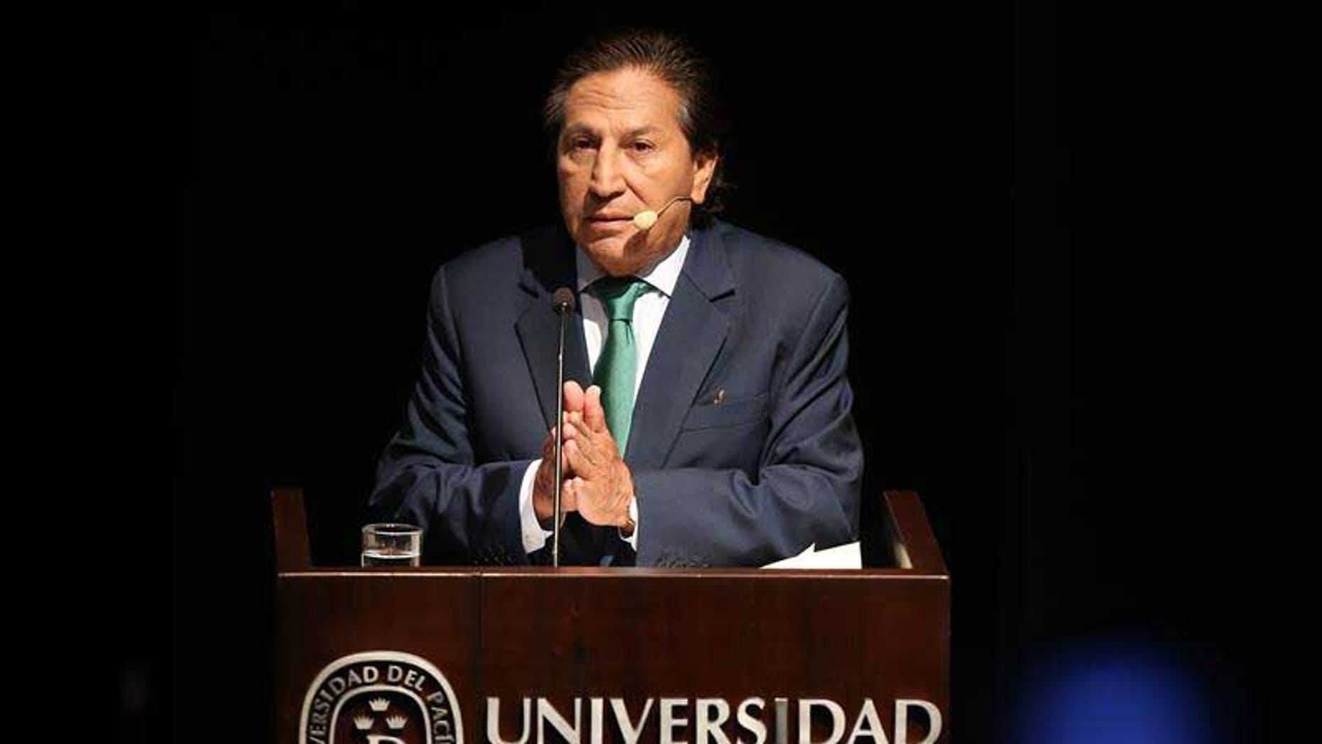An undated file photograph showing former Peruvian President Alejandro Toledo.