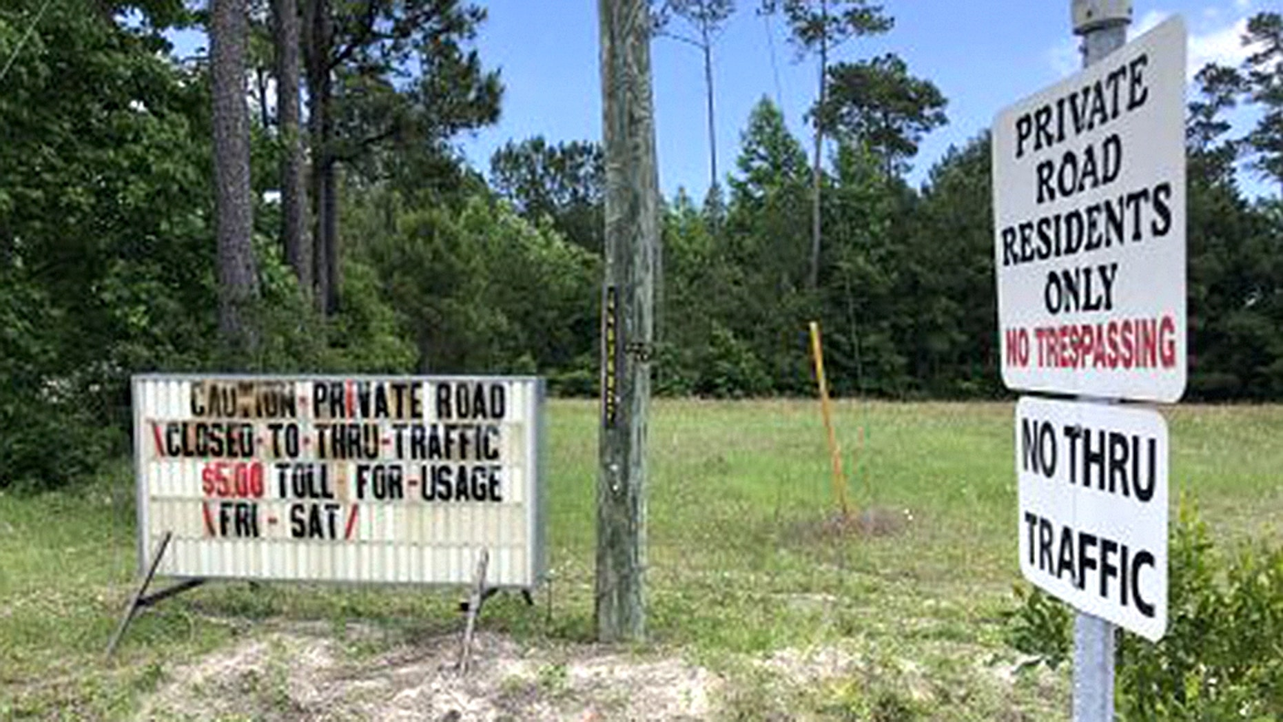 Residents of a North Carolina neighborhood have decided to impose a toll on a private street to deter traffic during the busy summer months.