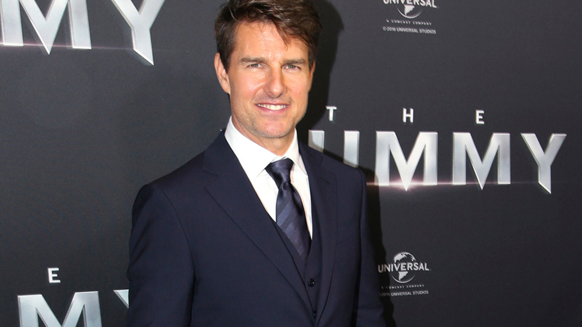 "In this Monday, May 22, 2017 file photo, actor Tom Cruise arrives for the Australian premiere of his movie ""The Mummy,"" in Sydney."