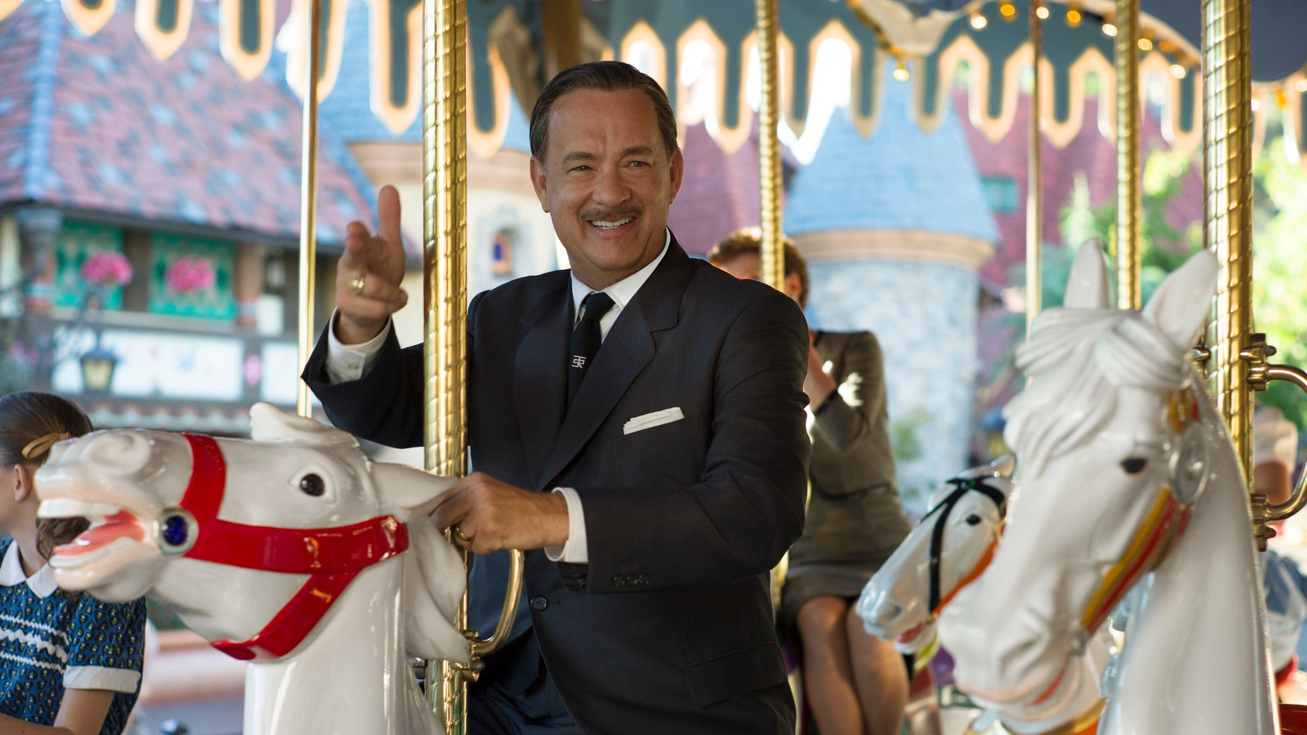 "This image released by Disney shows Tom Hanks as Walt Disney in a scene from ""Saving Mr. Banks."""