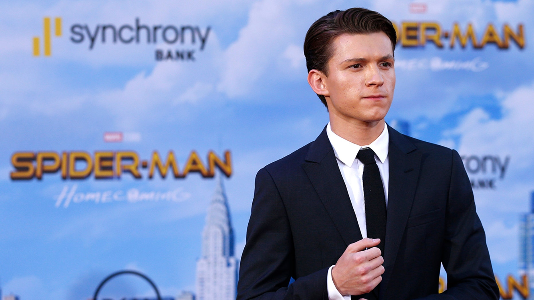 Tom Holland at the 'Spider-Man: Homecoming' premiere in Los Angeles.