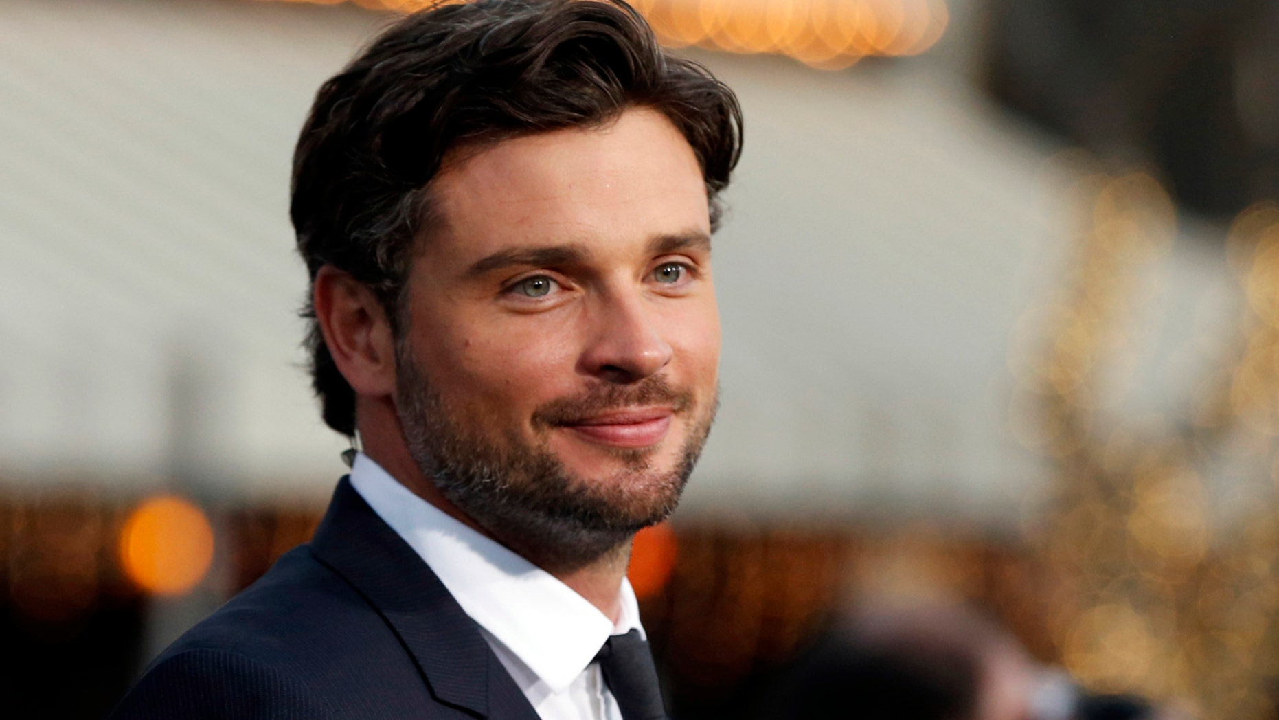 "Tom Welling poses at the premiere of ""Draft Day"" in Los Angeles, on an April 2014 file photo."