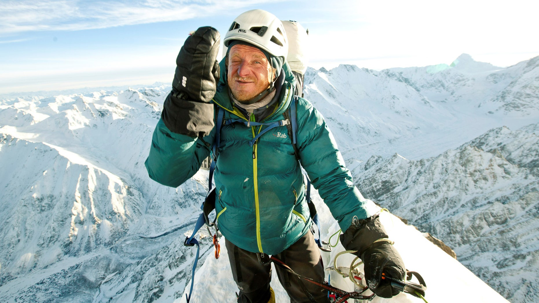 Polish climber Tomasz Mackiewicz during his trip on Nanga Parbat mountain in Pakistan January 2014.
