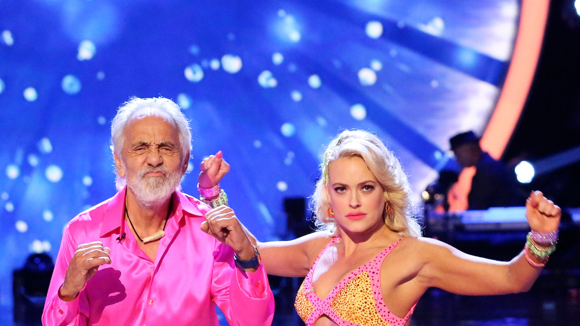 """Sept. 22, 2014. Tommy Chong, left, performs with Peta Murgatroyd on  Dancing with the Stars."""" The Nielsen company admitted Friday, Oct. 10, to errors dating back to March in its measurement of television viewing, statistics that serve as the foundation for billions of dollars in advertising spending for the entire broadcast industry."""