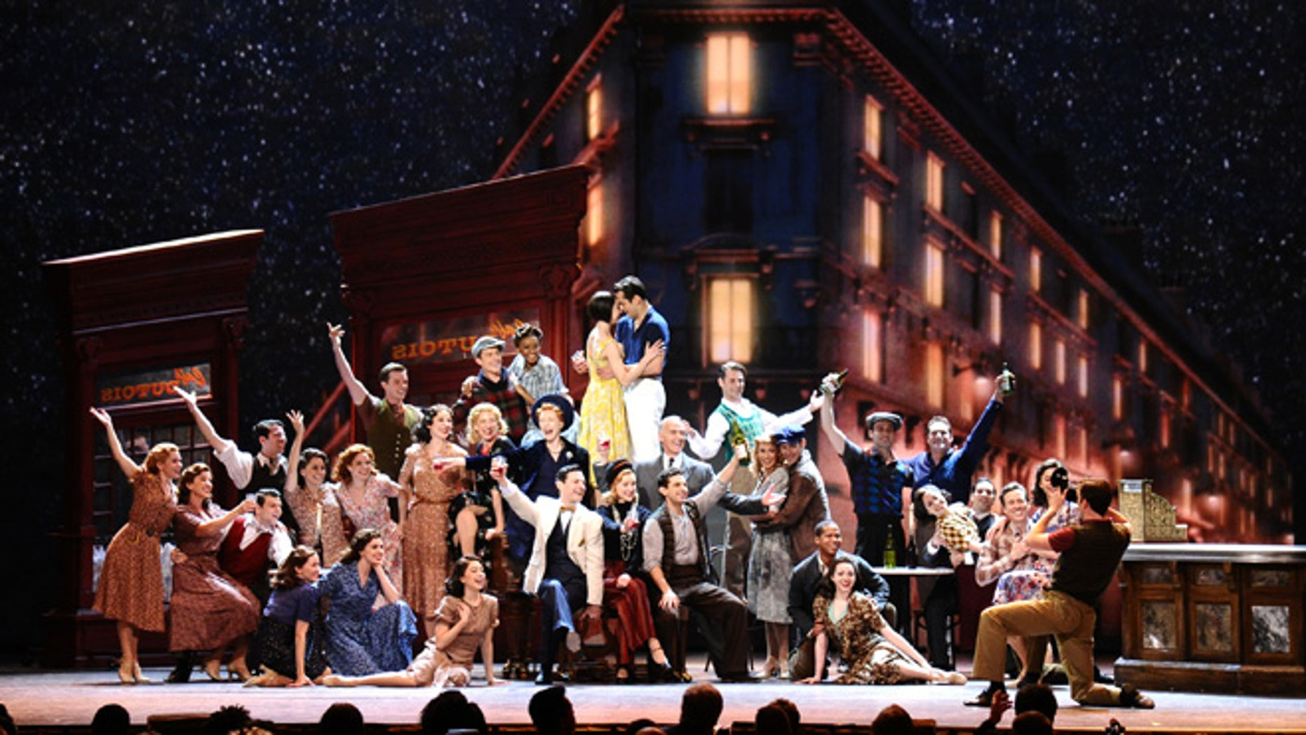 The cast of An American in Paris performs at the 69th annual Tony Awards at Radio City Music Hall on Sunday, June 7, 2015, in New York. (Photo by Charles Sykes/Invision/AP)