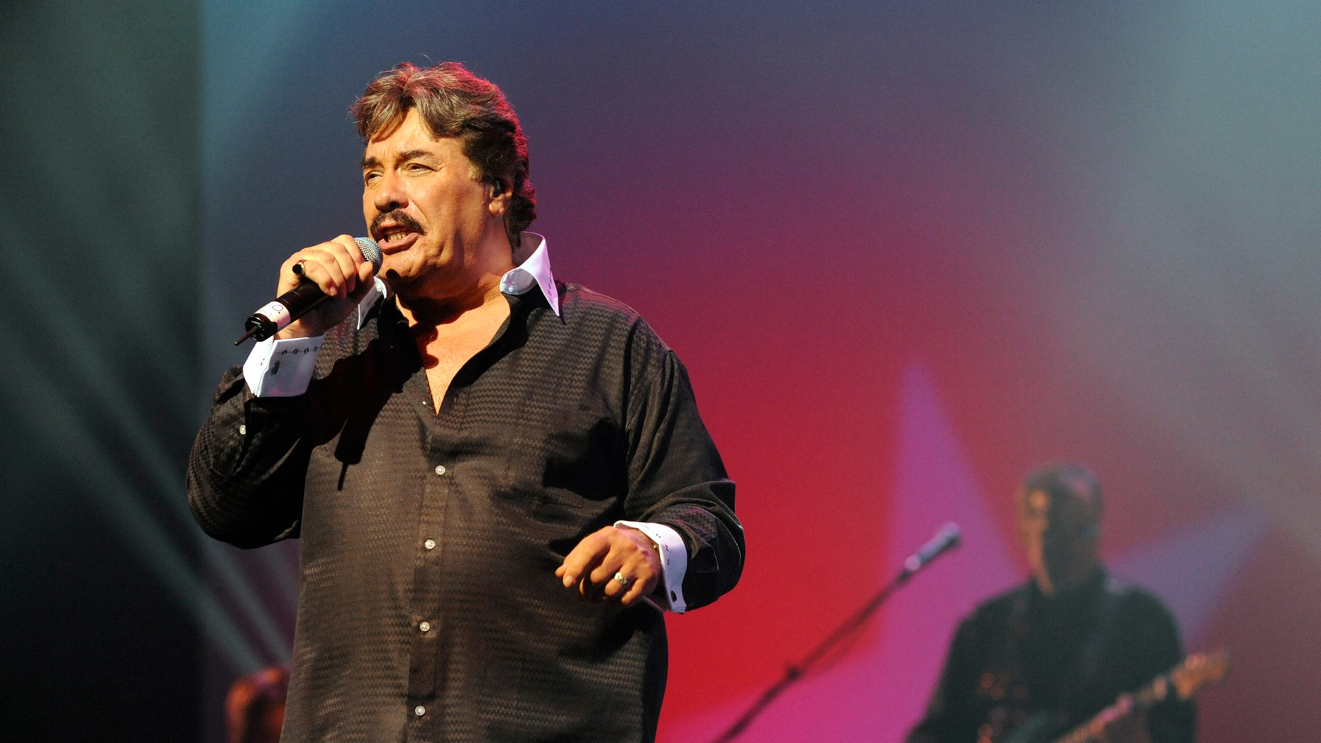 November 8, 2011. Tony Orlando singing at the Welk Resort Theater in Branson, Missouri.