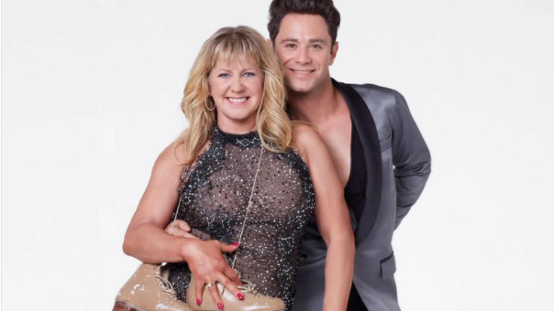 "Tonya Harding and her ""Dancing With the Stars"" partner Sasha Farber."