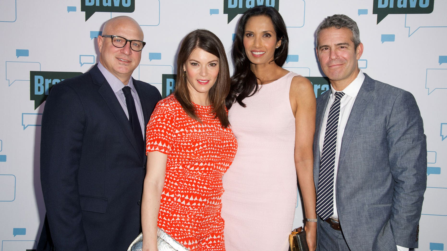 May 1, 2014.'Top Chef' judges Tom Colicchio, Gail Simmons, Padma Lakshmi and Bravo's Andy Cohen at the 'Watch What Happens Live! Presents a Night with Top Chef' at the Television Academy in Hollywood.