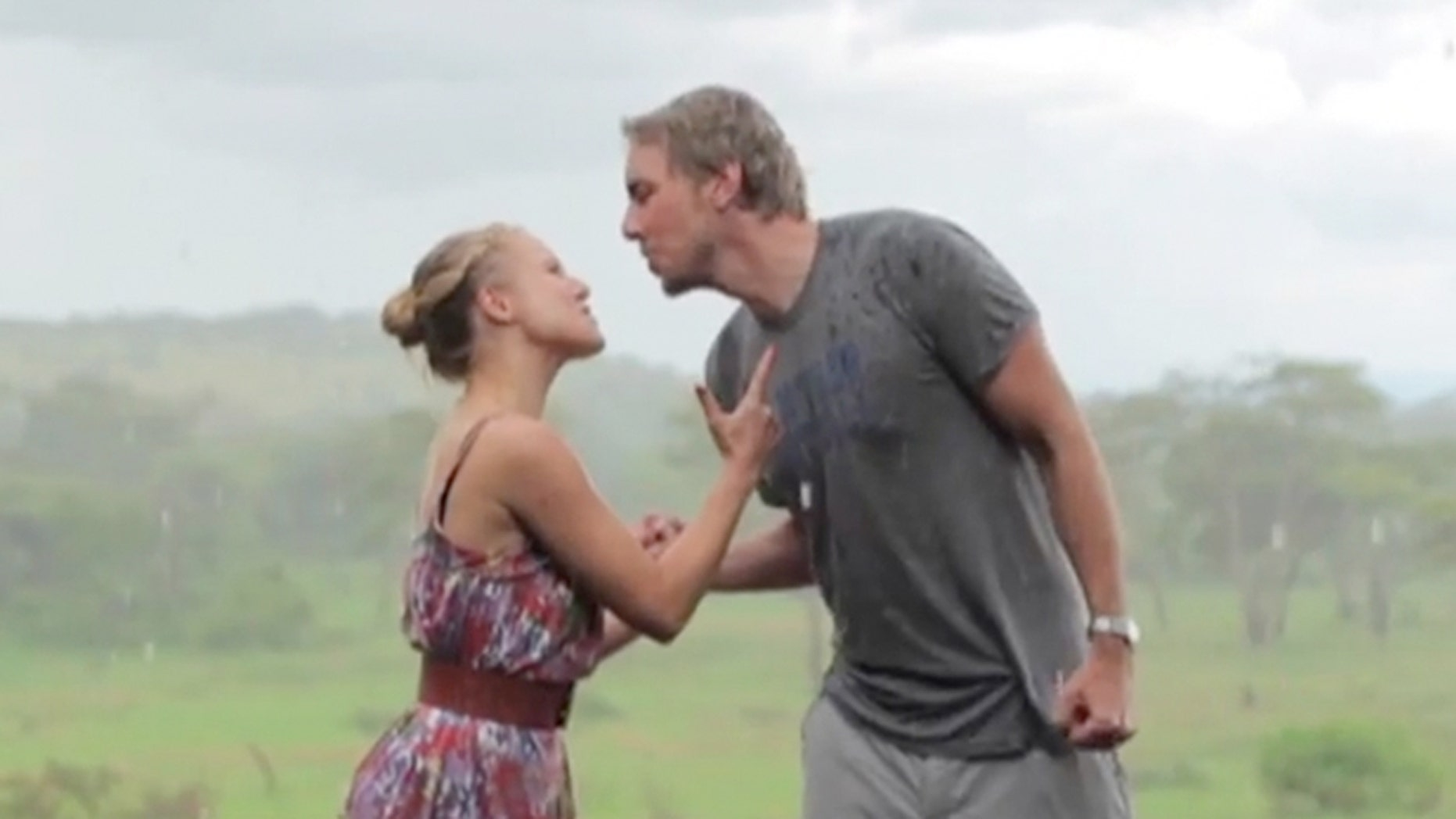 Kristen Bell and Dax Shepard channel Toto to honor the last trip pre-kids.