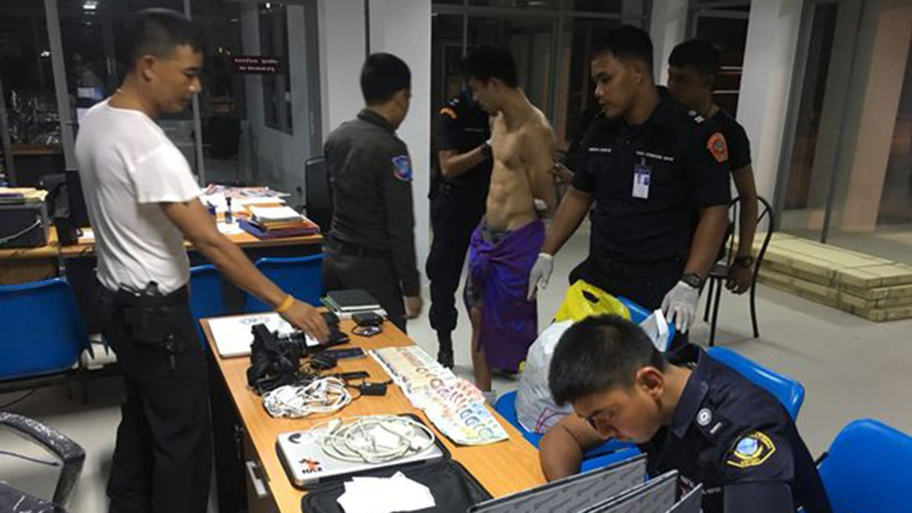 Steve Cho, a 27-year-old from New York, was apprehended by six airport security officials at Phuket International Airport.