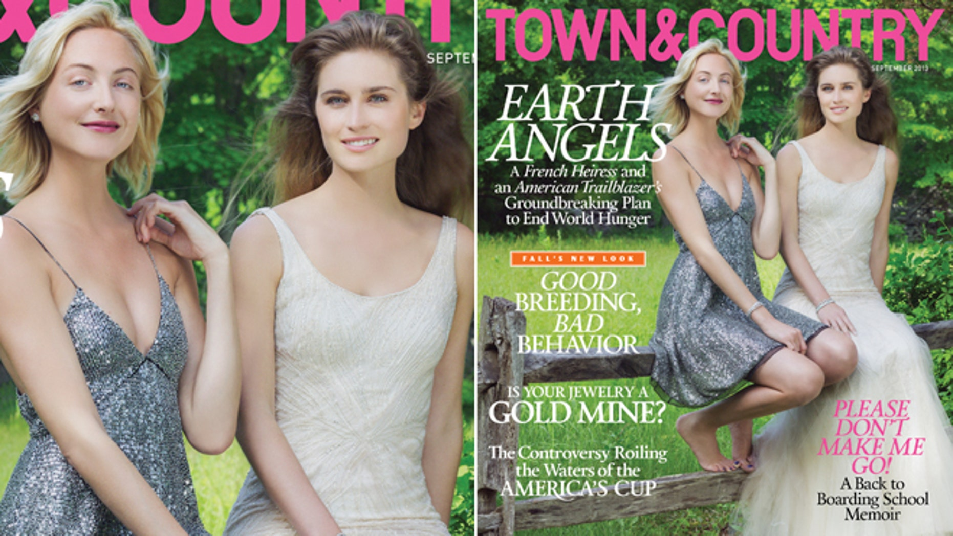 Claire Courtin-Clarins and Lauren Bush Lauren appear on the cover of Town & Country.