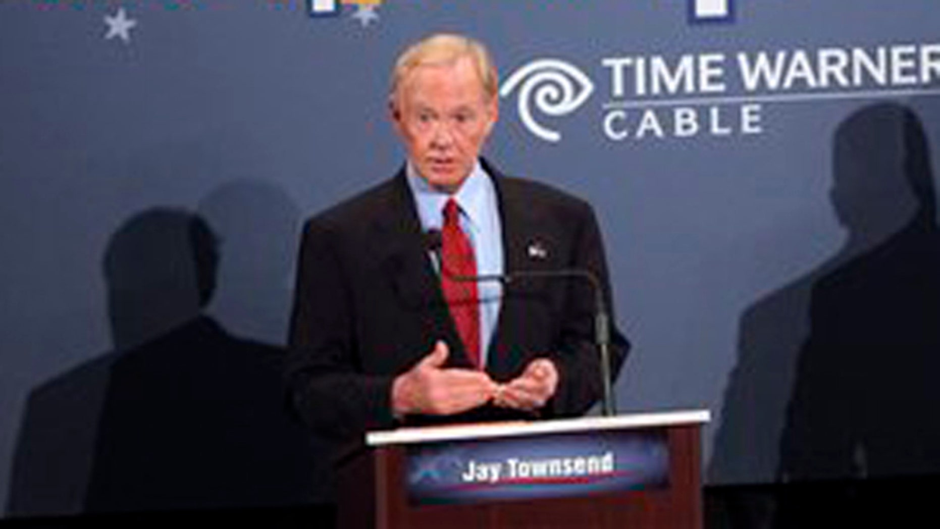 Jay Townsend speaks at the Republican primary debate for U.S. Senate at Union College in Schenectady, N.Y., Aug. 23. (AP Photo)
