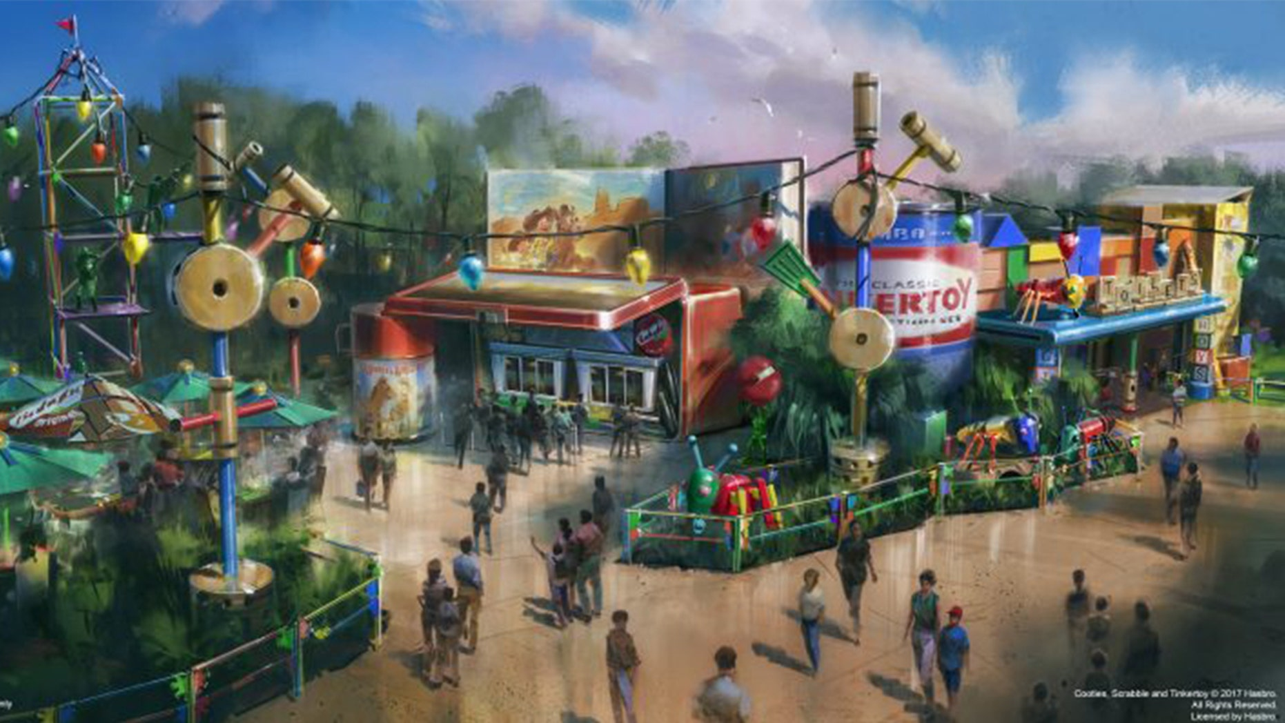 Toy Story Land features some of Andy's favorite toys, as well as his thermos and lunchbox.