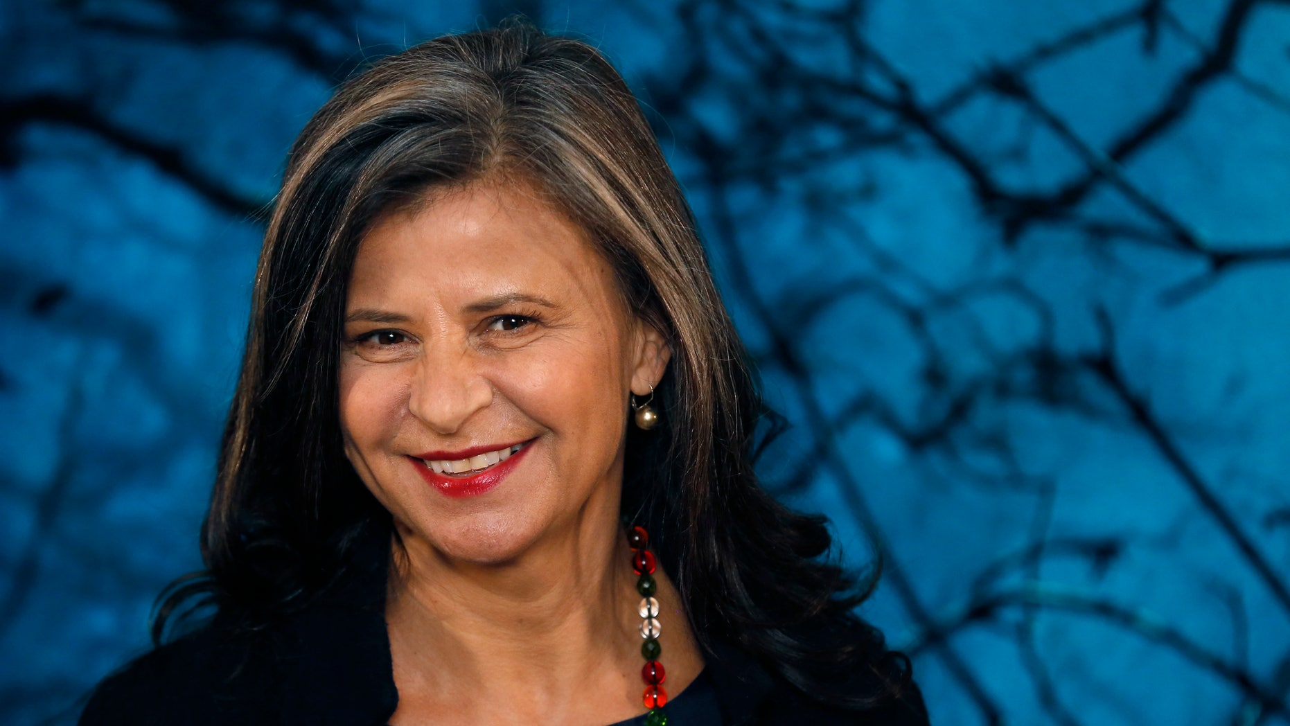 """January 7, 2015. Actress Tracey Ullman poses during a media event for the film """"Into the Woods"""" in London."""