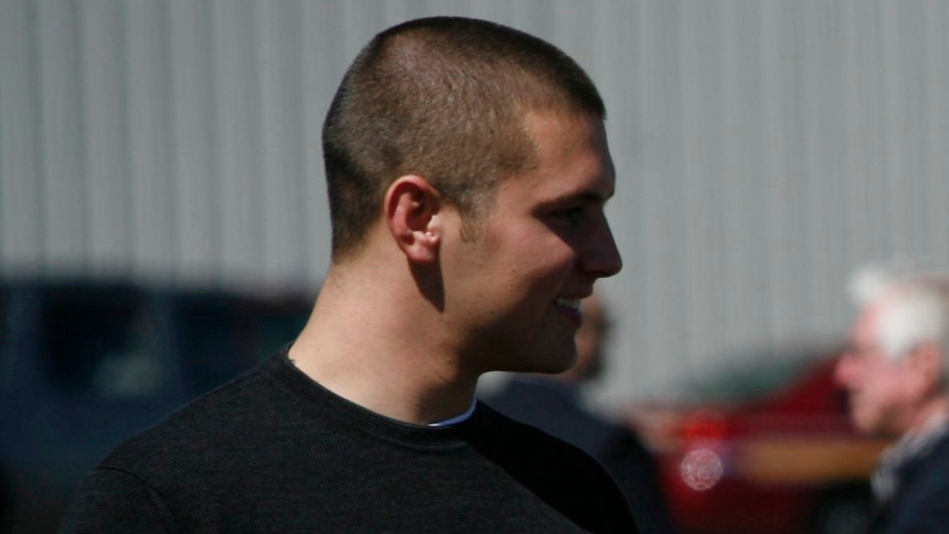 Track Palin, former Alaska Gov. Sarah Palin's oldest son, was arraigned Sunday after being arrested a day earlier on charges of domestic violence.