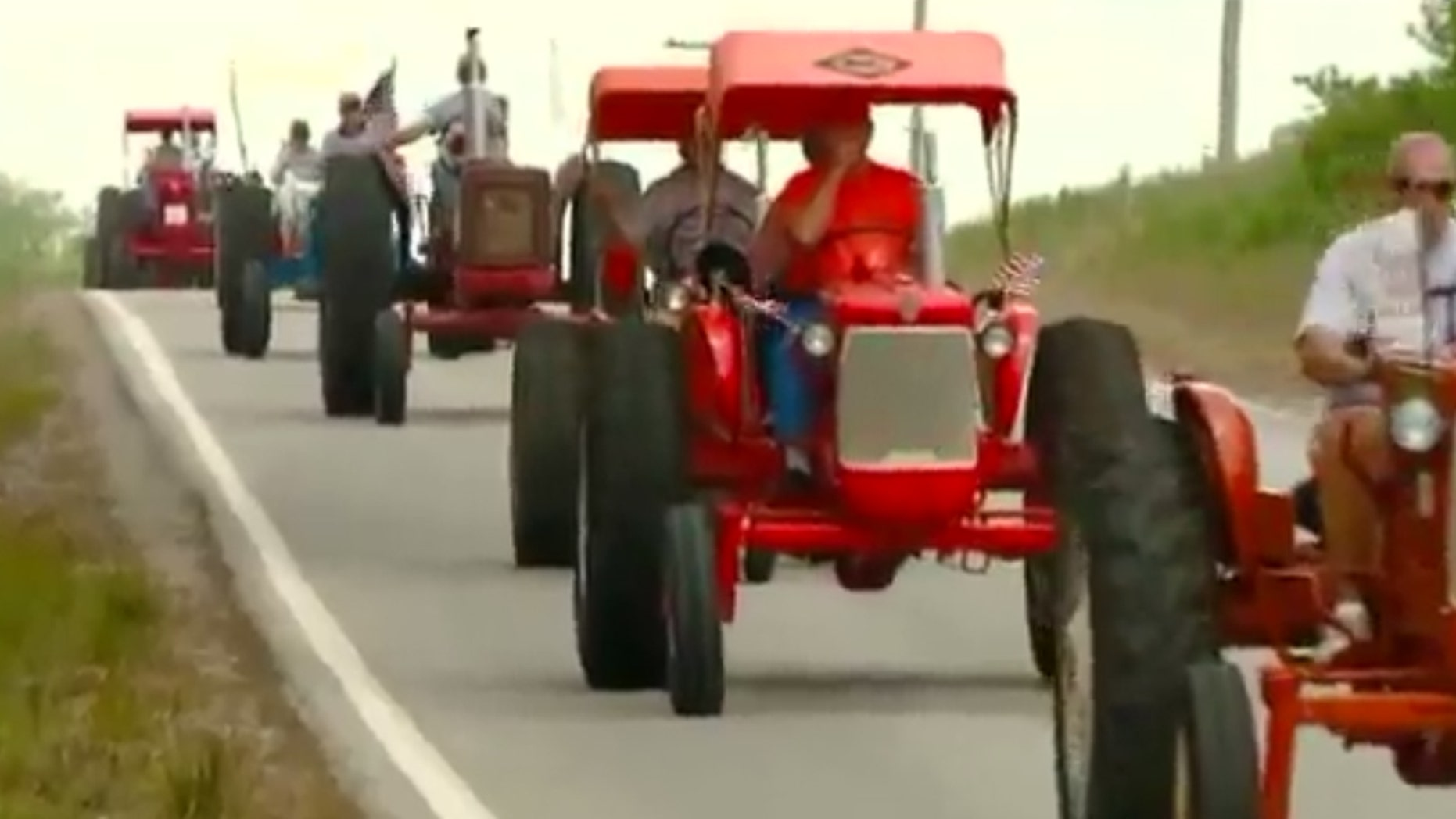 A group of tractor owners hit the road in the first ever American Legion Tractor Cruise to benefit veterans struggling with PTSD.
