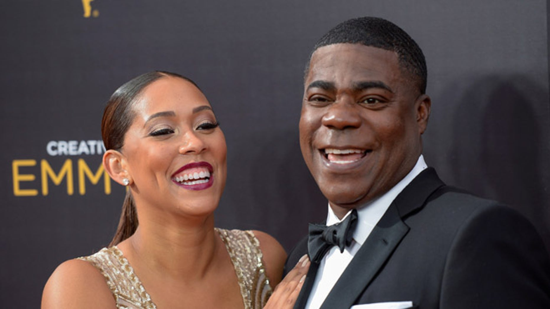 September 10, 2016. Tracy Morgan and his wife Megan Wollover at the Creative Arts Emmys.