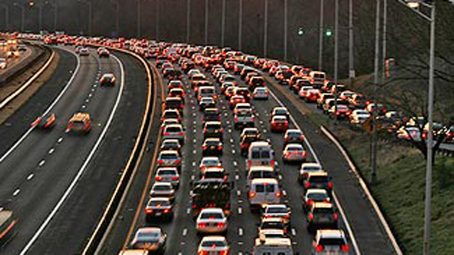 Shown here is highway traffic outside Washington, D.C., in Virginia.