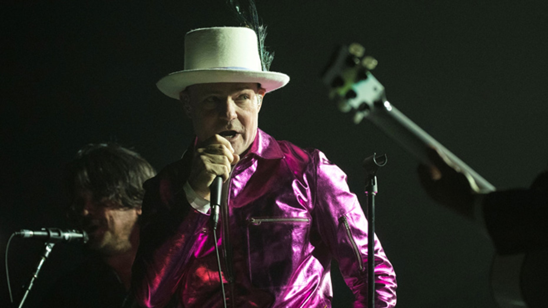 Tragically Hip's lead singer Gord Downie who has been diagnosed with terminal brain cancer.