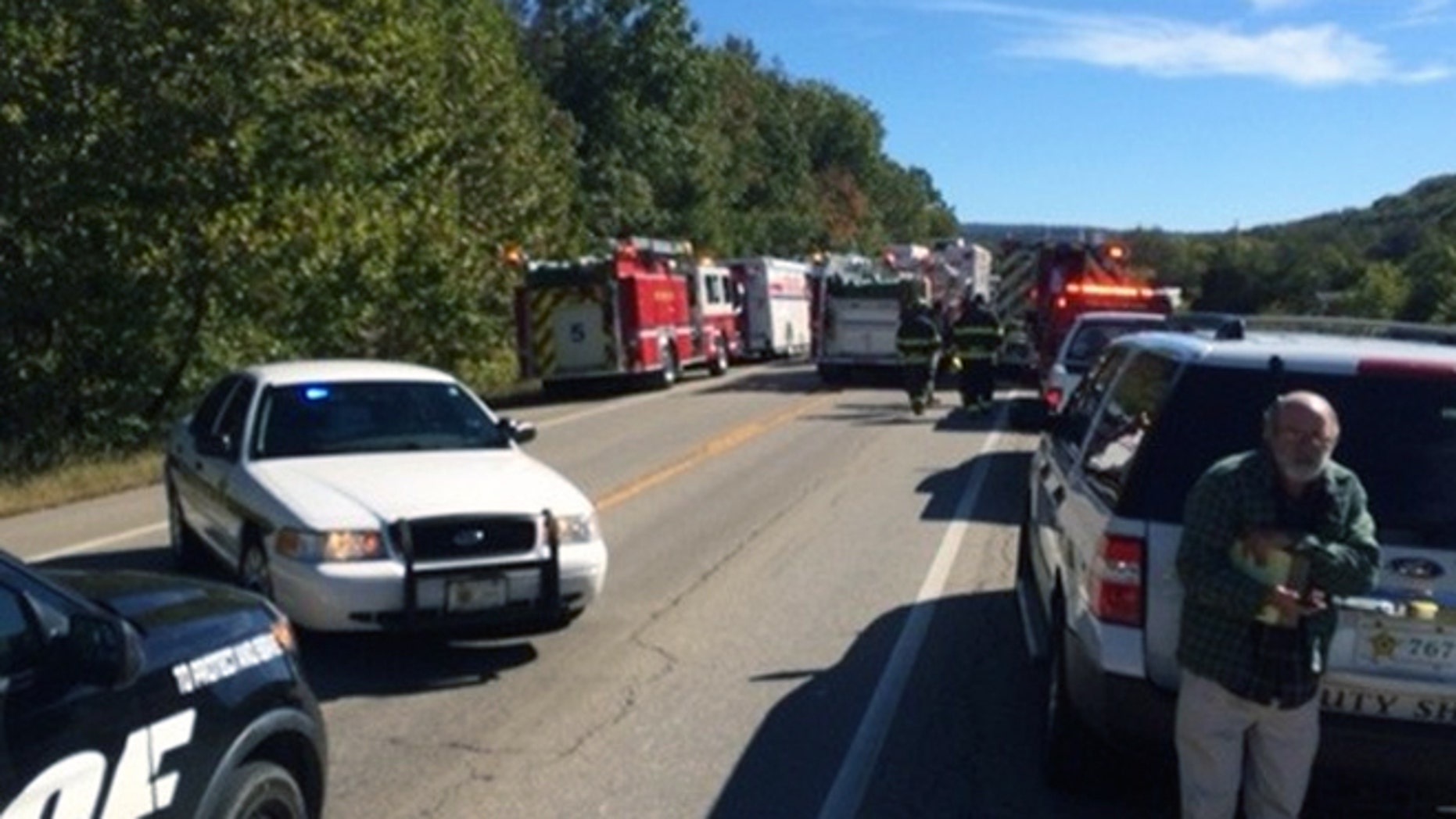 Emergency responders were at the scene in Washington County and transported 31 to local hospitals, 5NewsOnline.com reported.
