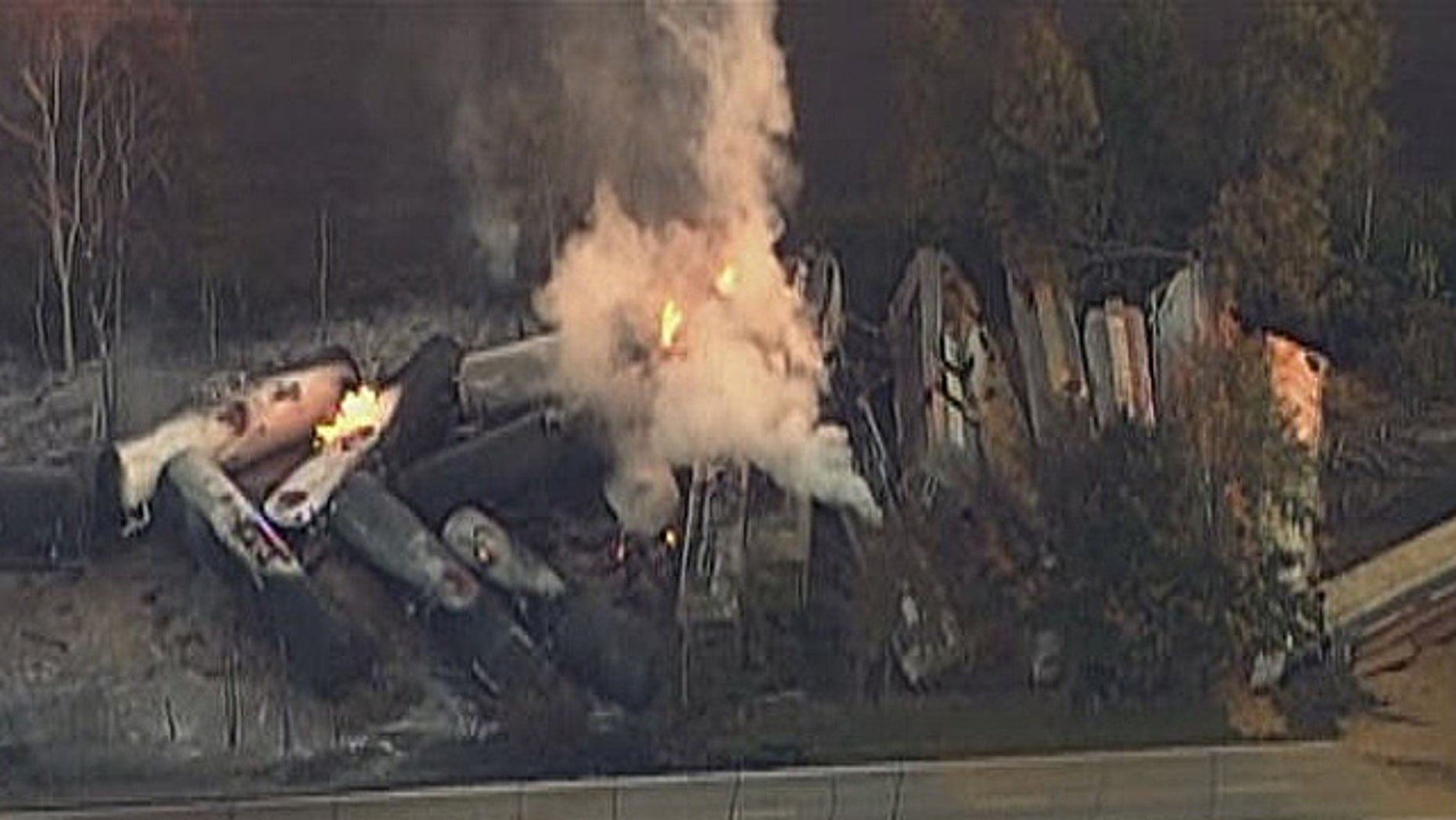 Oct. 7: Capt. Steve Haywood of the Ottawa Fire Department said the train's tanker cars were shipping ethanol for Decatur-based corn processor Archer Daniels Midland, and possibly other materials and chemicals.