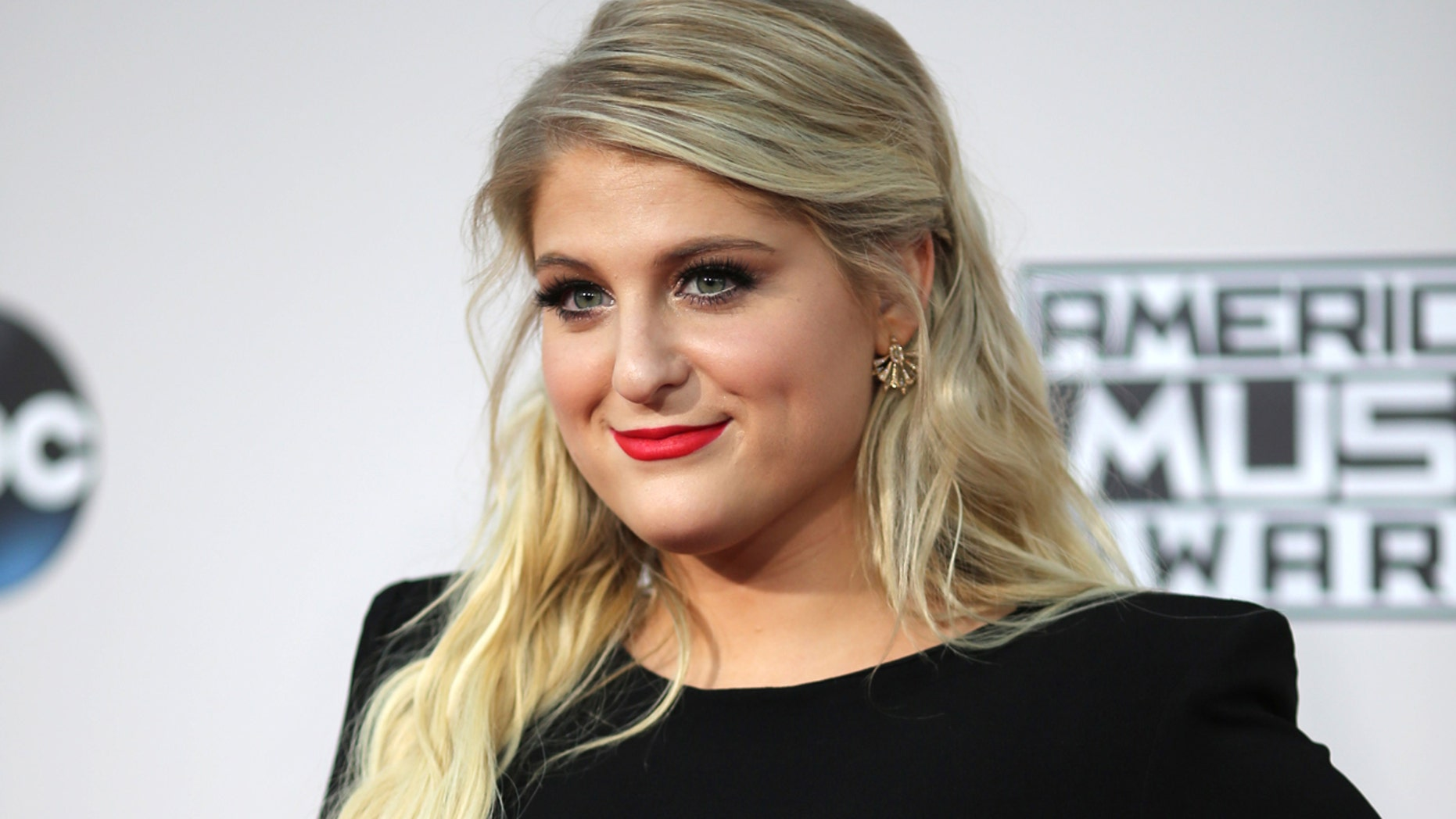 Singer Meghan Trainor arrives at the 2015 American Music Awards in Los Angeles, California November 22, 2015.
