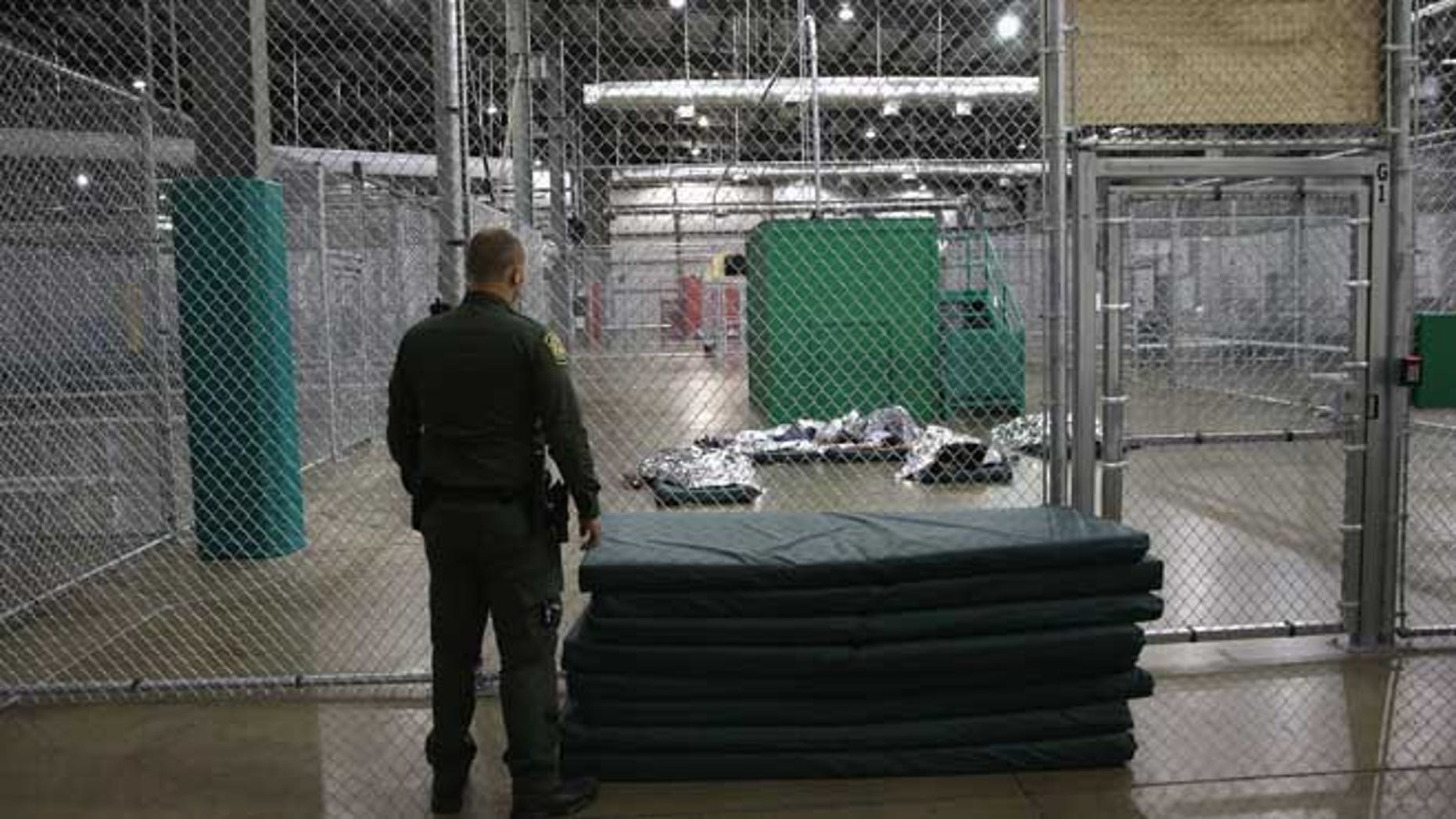 A detention facility run by the Border Patrol on September 8, 2014 in McAllen, Texas. (Photo by John Moore/Getty Images)