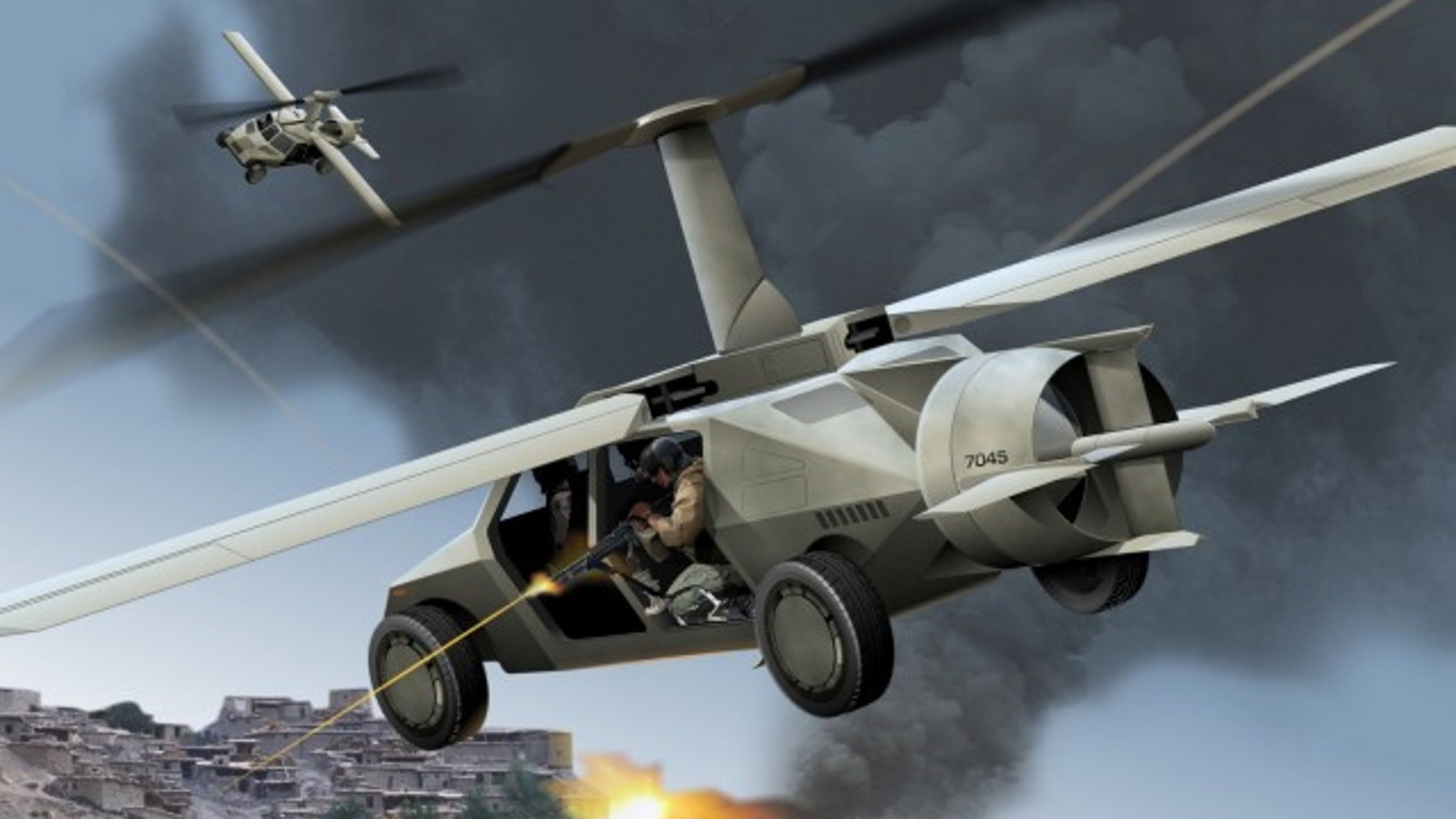 DARPA is developing an autonomous flying vehicle.