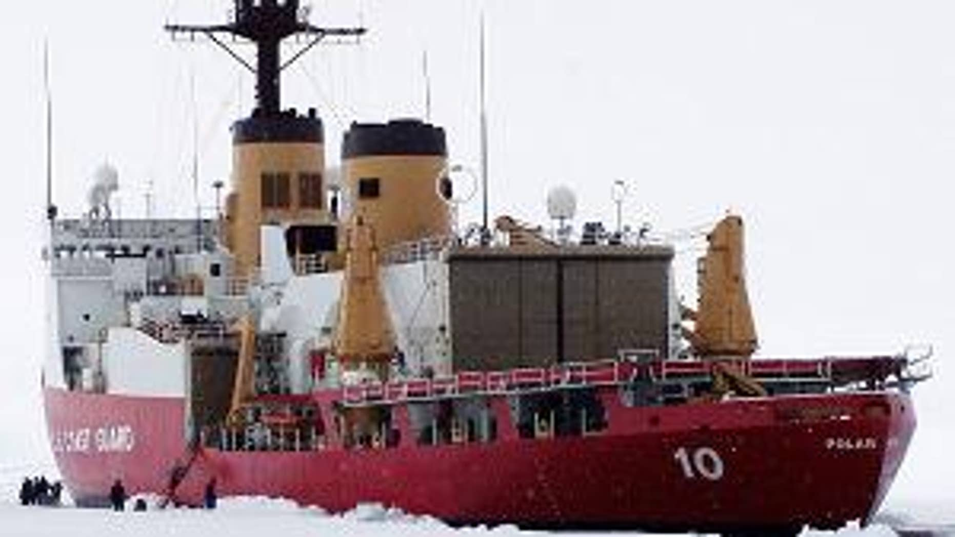 The U.S. Coast Guard ice breaker Polar Star is headed to Antarctica, where a fishing boat with 27 aboard is trapped in ice nine feet thick. (AP)