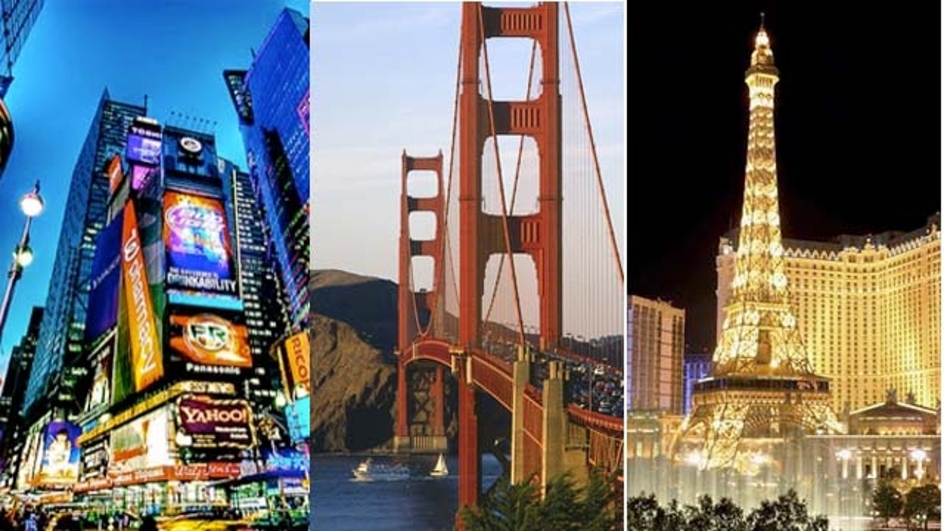 New York City, San Francisco and Las Vegas were the top three U.S. destinations for 2012, according to TripAdvisor.