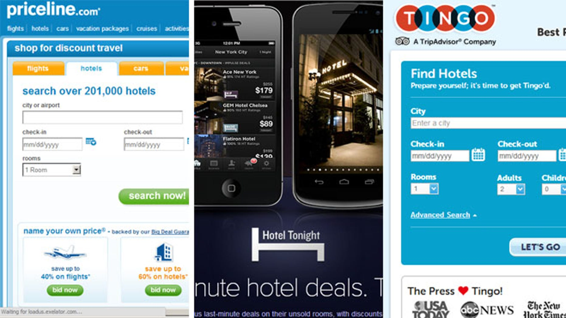 Tingo, HotelTonight and Priceline are just three websites that are helping people save real money.