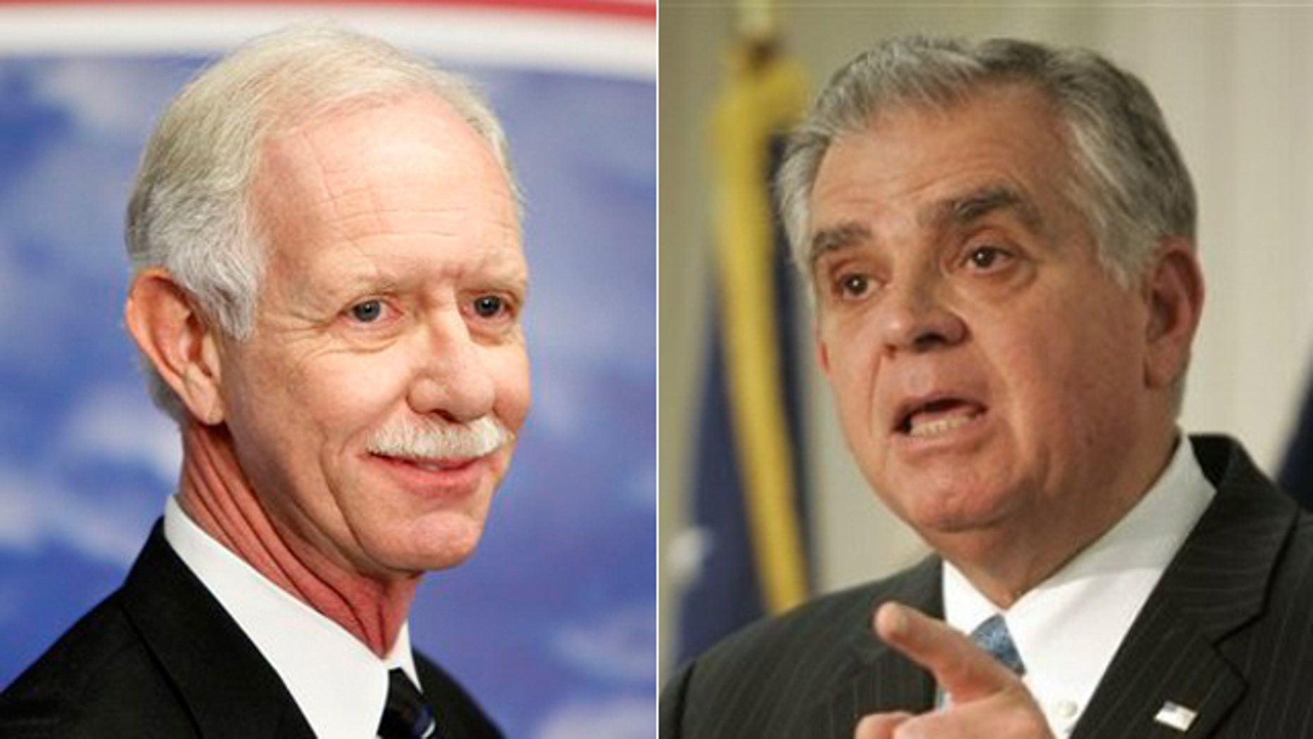 """Chesley B. """"Sully"""" Sullenberger and Ray LaHood"""