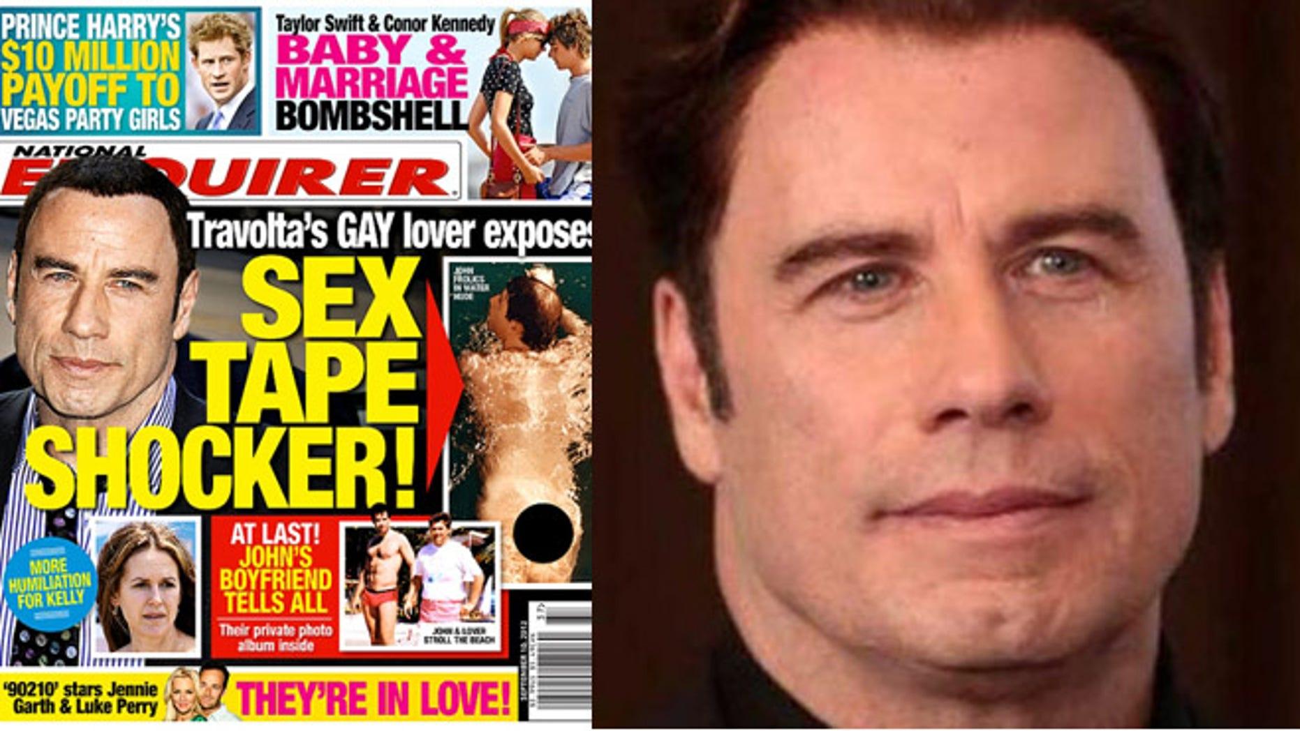 travolta gay John being