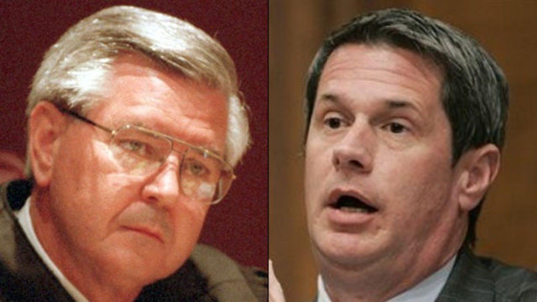 Shown here are Louisiana Senate candidate Chet Traylor, left, and Sen. David Vitter. (AP Photos)