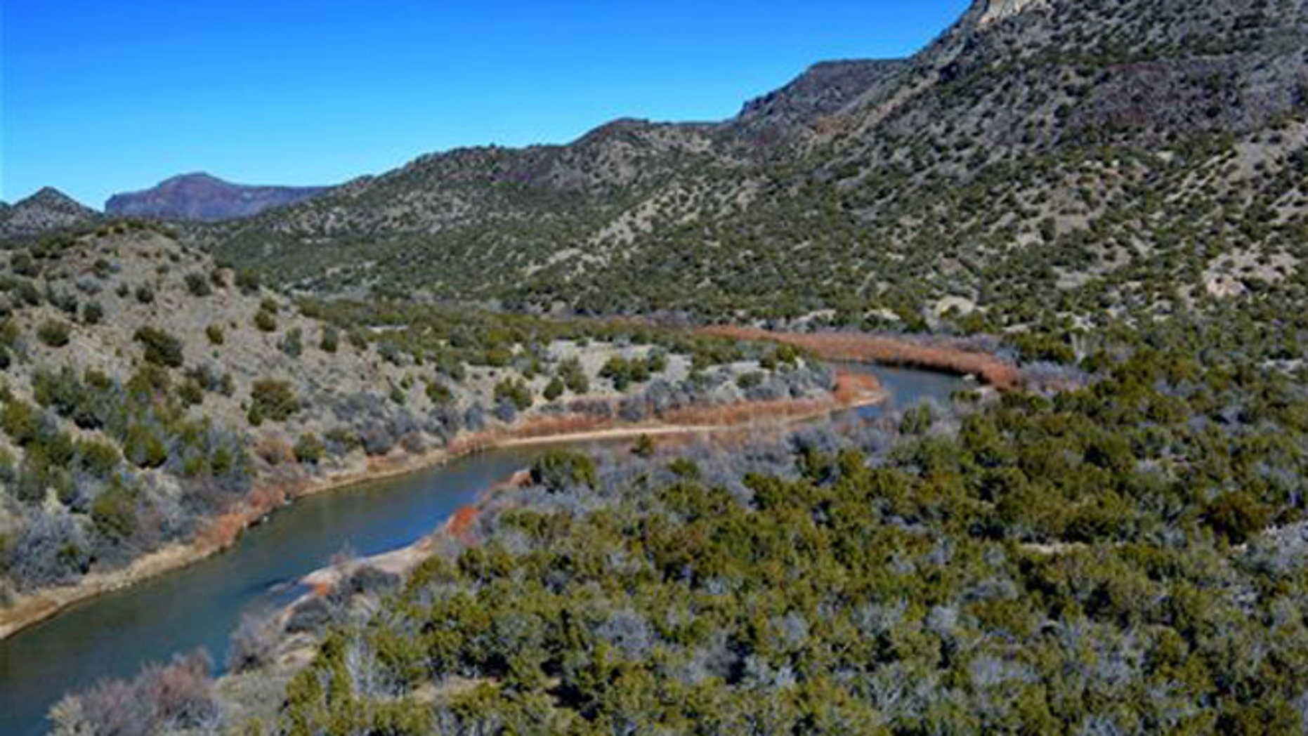 This Tuesday, Jan. 26, 2015 photo shows an area in New Mexico that was searched by air for missing treasure hunter Randy Bilyeu. (Cynthia Meachum via AP)