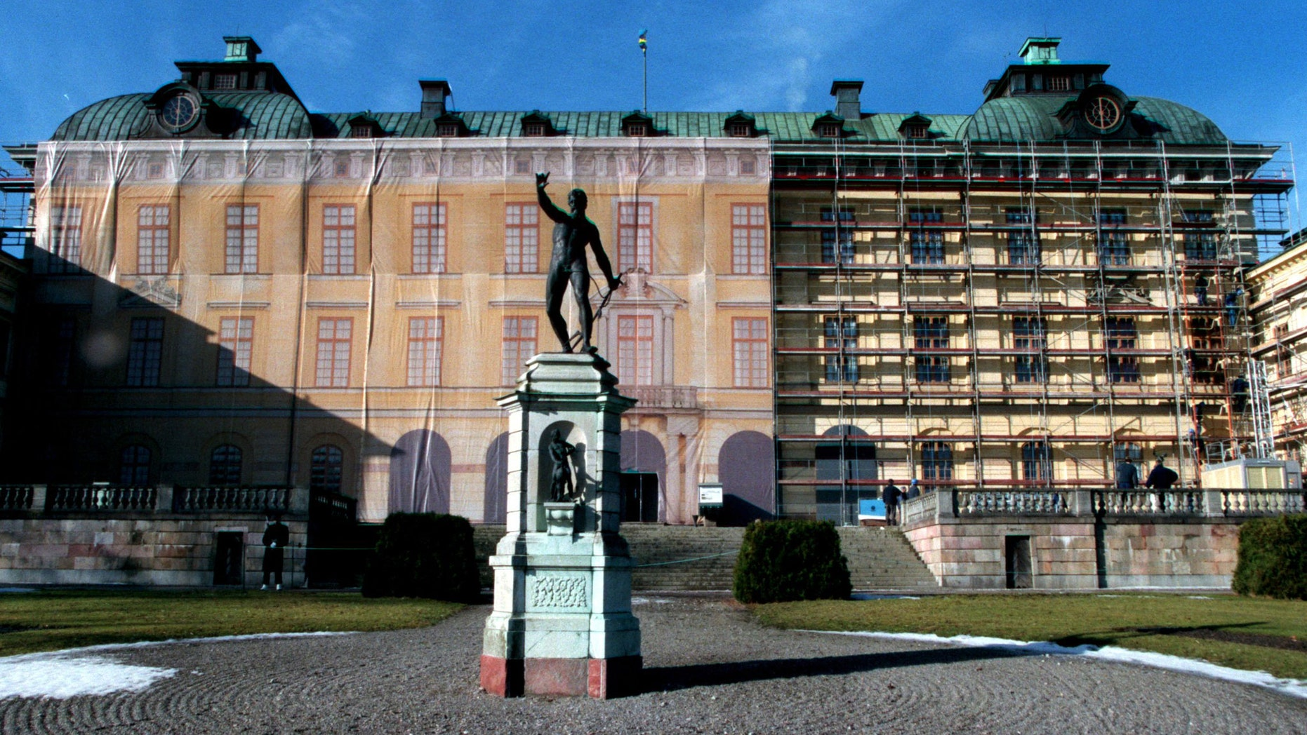 The home of the Swedish Royal family, The Drottningholm Royal palace just outside Stockholm, underwent a facade restoration in 1999 (pictured). Today, a member of the royal family says a friendly ghost roams the halls.