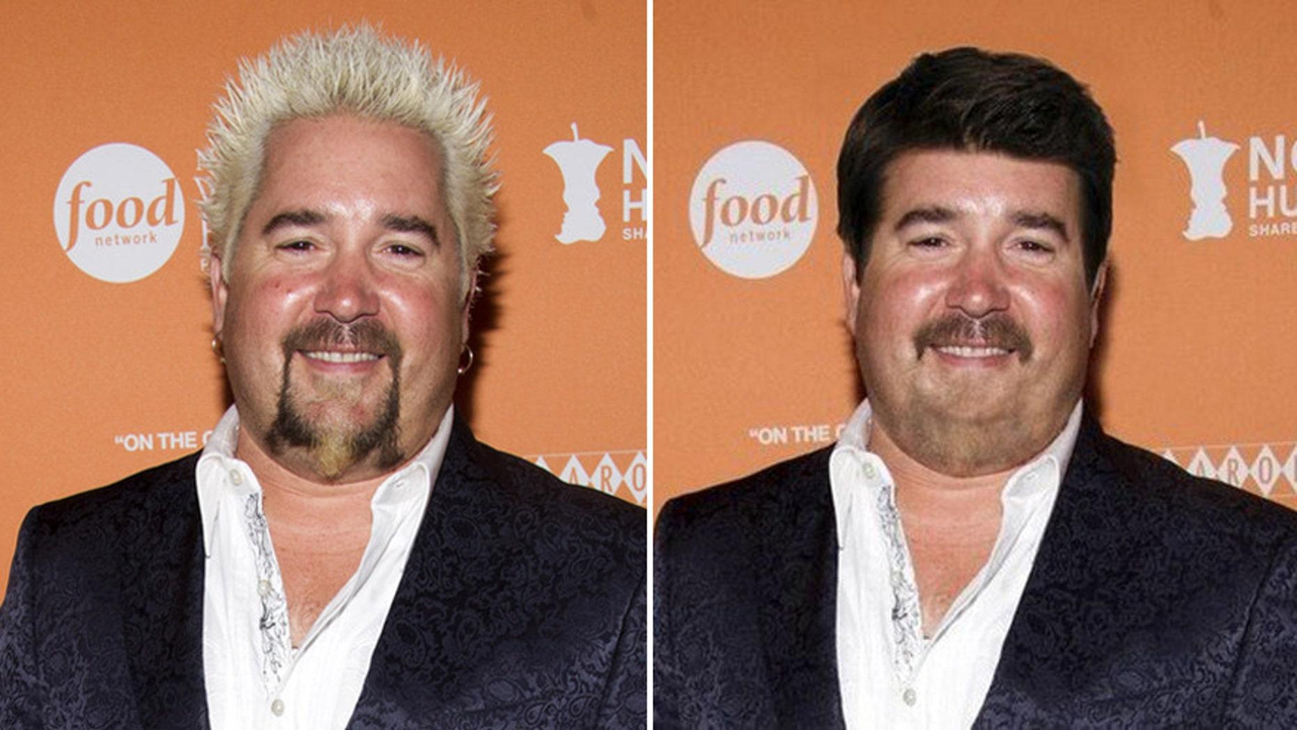 Celebrity chef Guy Fieri looks different.