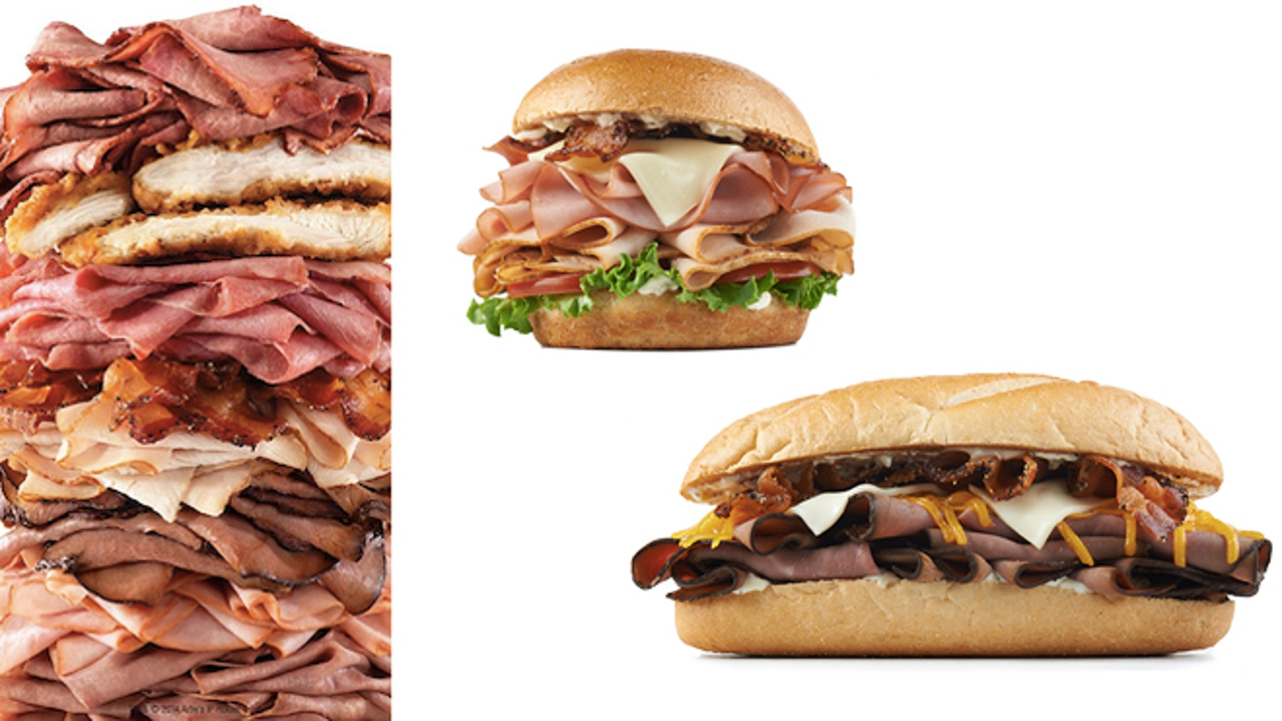 All of the meats and a few of Arby's meaty sandwich selections.