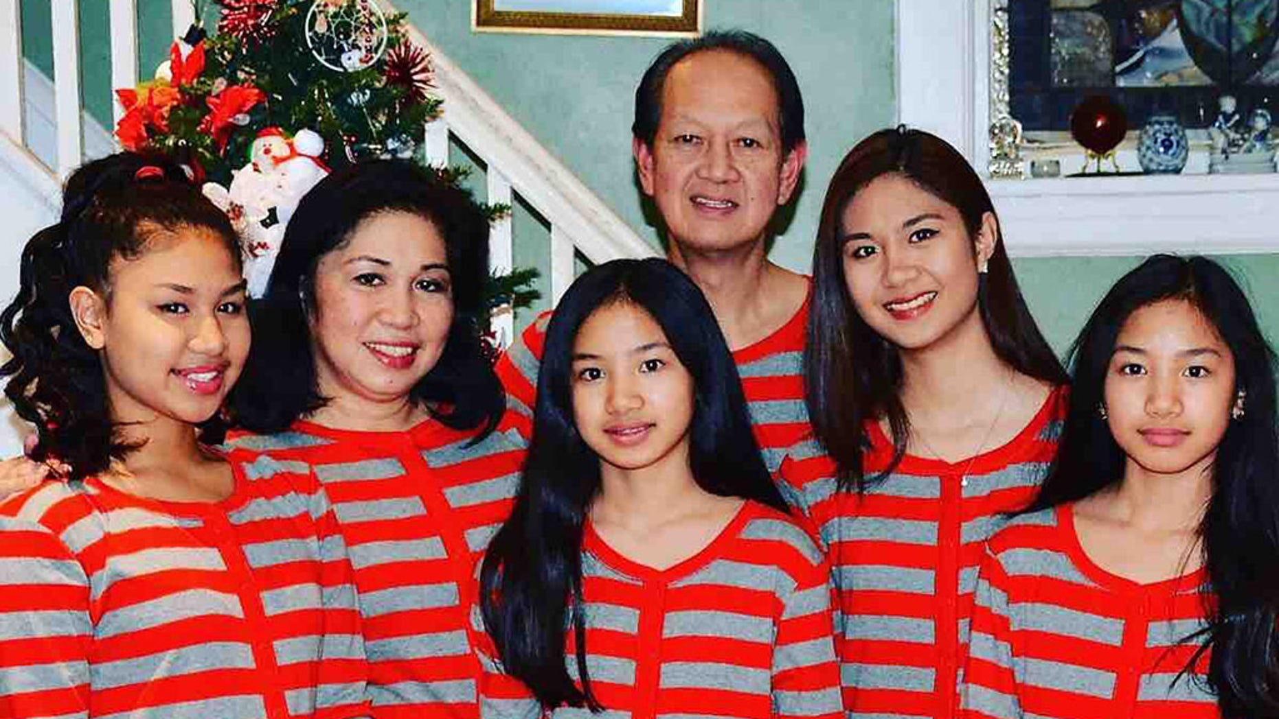 Audey Trinidad, 61, and his four daughter aged 13 to 20, were killed in a crash near Townsend, Delaware, Friday. His wife survived the accident.