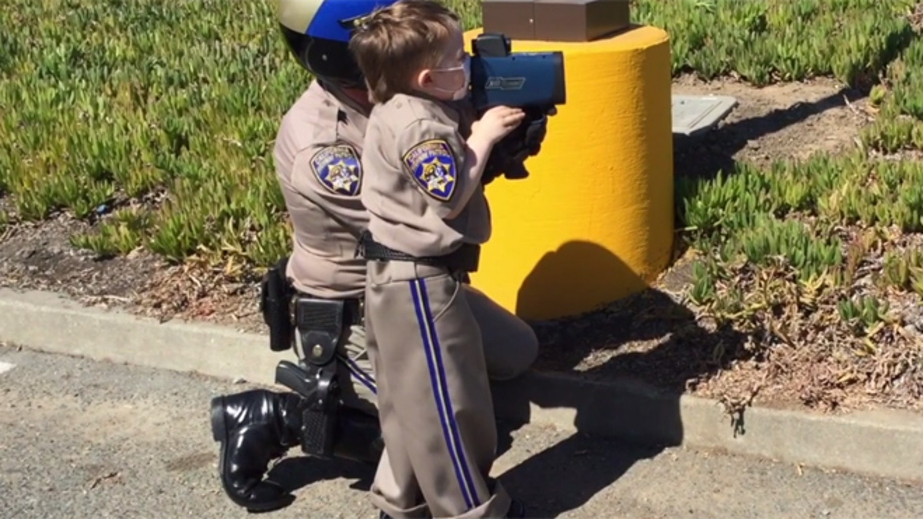 Tristan was a California Highway Patrol Officer for a day.