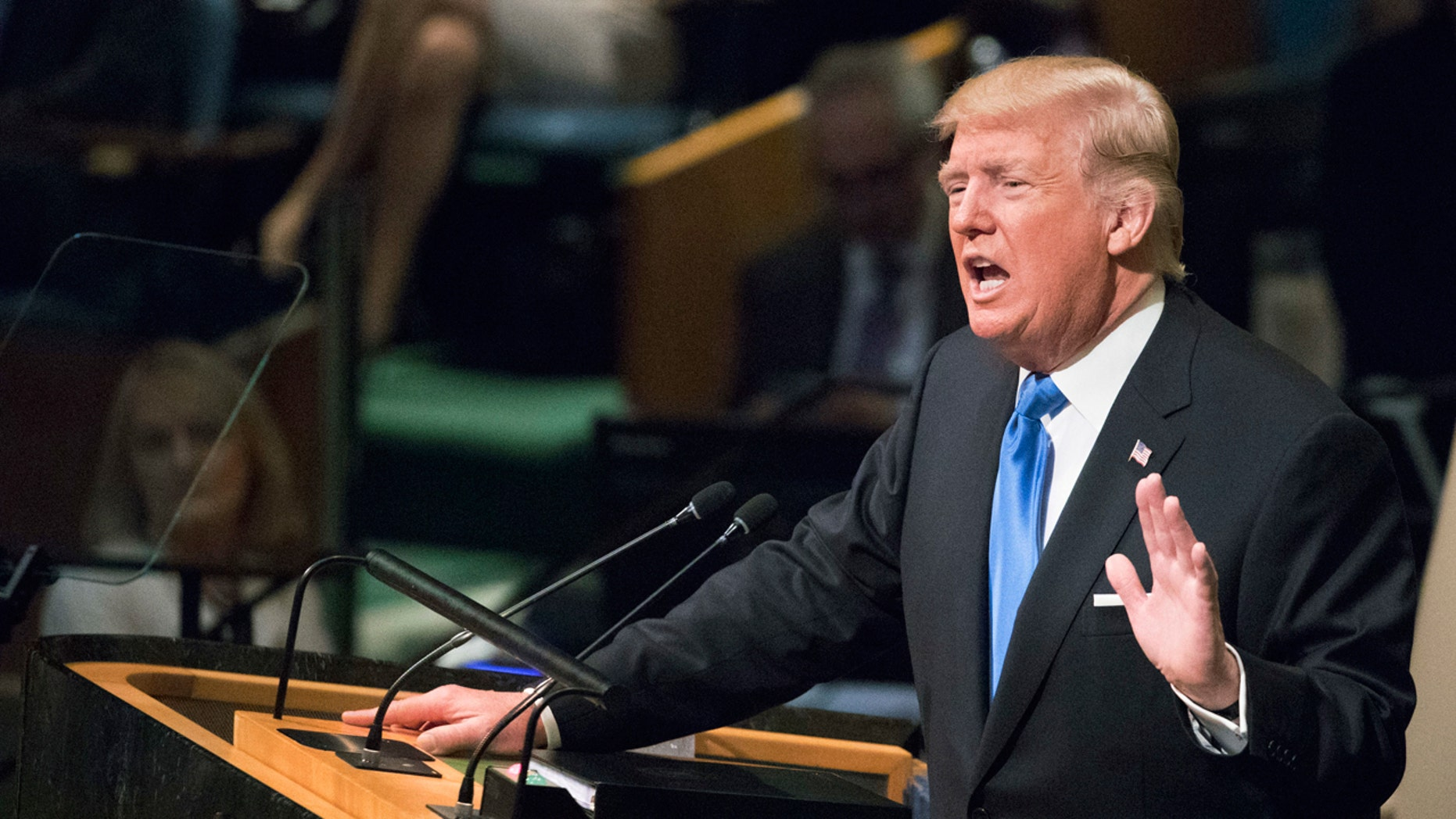 """In his speech to the U.N. General Assembly, President Trump threatened to """"totally destroy"""" North Korea if it didn't end its nuclear weapons program."""