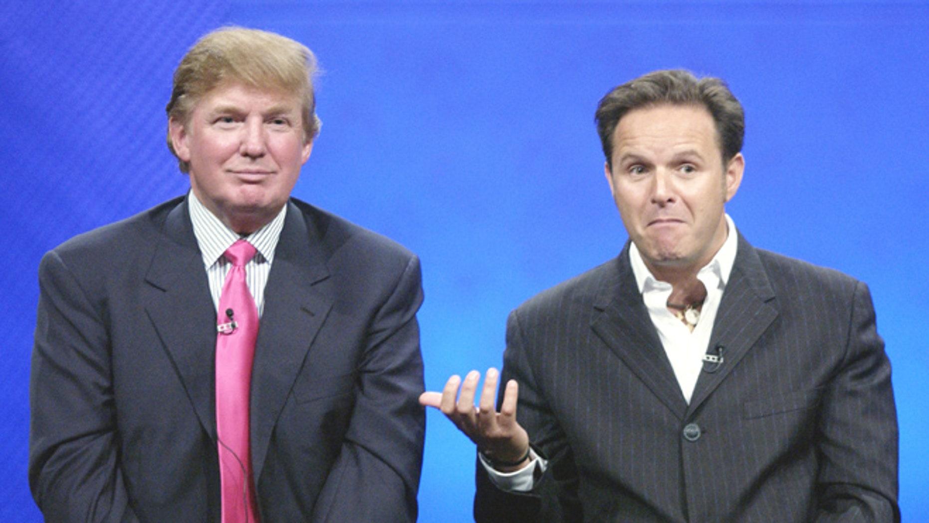"""Donald Trump and """"The Apprentice"""" creator Mark Burnett in 2004."""