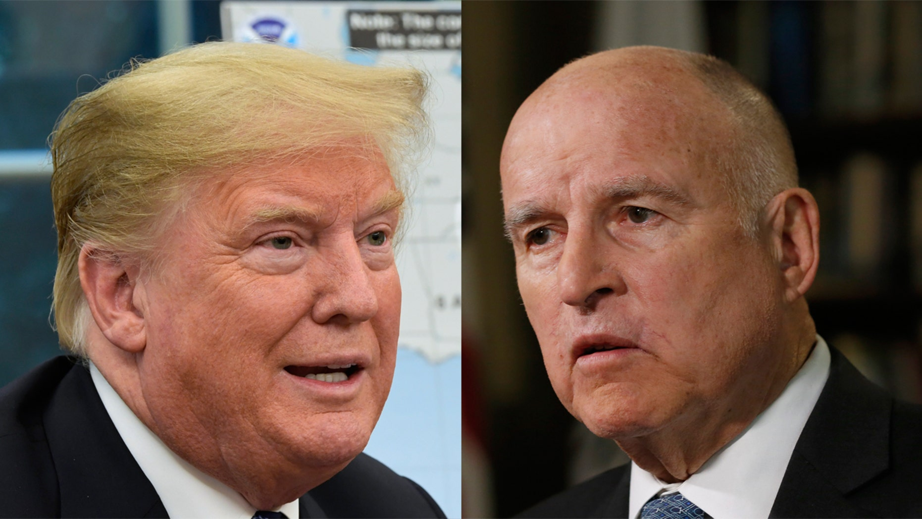 President Trump and California Gov. Jerry Brown have been at odds on a number of issues.