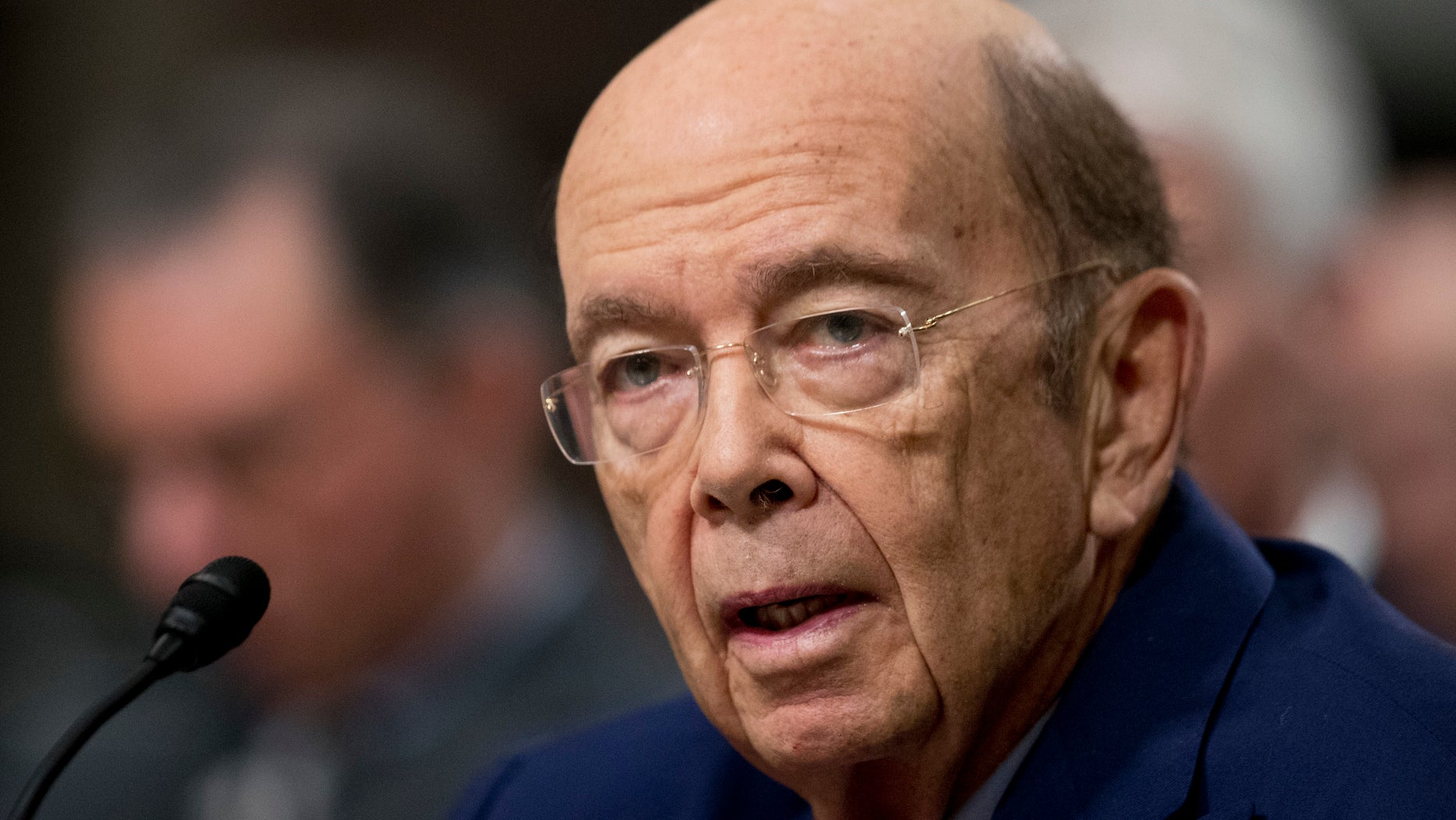 Commerce Secretary-designate Wilbur Ross testifies on Capitol Hill in Washington, Wednesday, Jan. 18, 2017, at his confirmation before the Senate Commerce Committee. (AP Photo/Manuel Balce Ceneta)