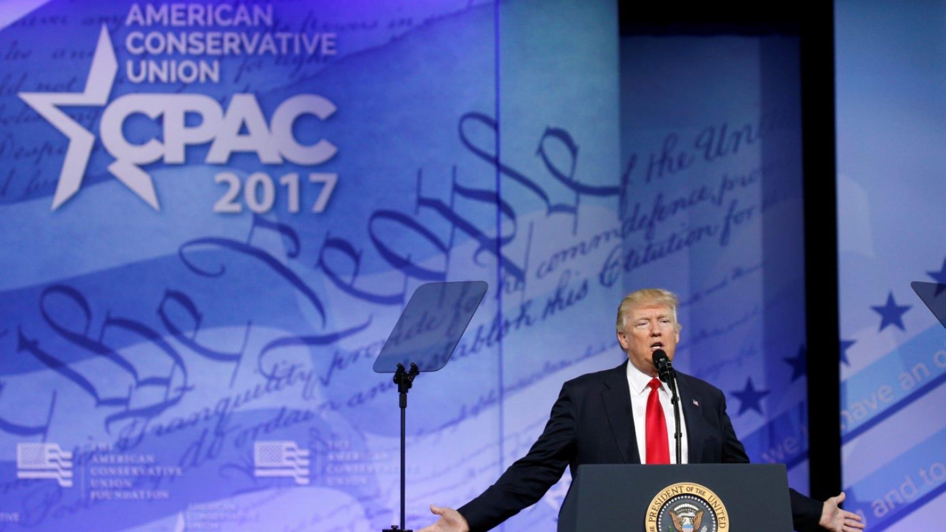 President Trump will speak at CPAC next week.