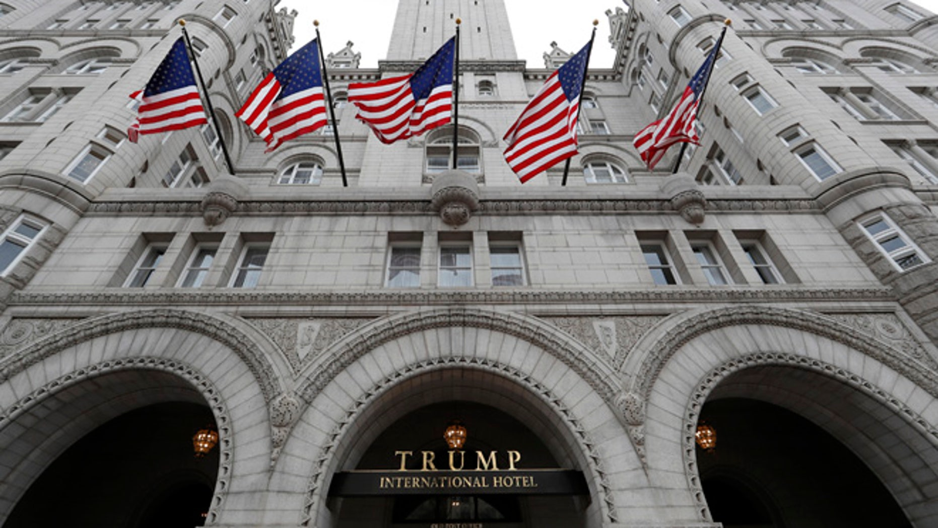 The Trump International Hotel in Washington is seen in this December 2016 photo.